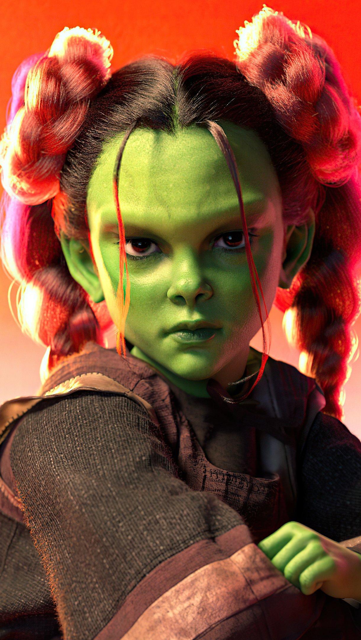 Fondos de pantalla Gamora como niña Vertical