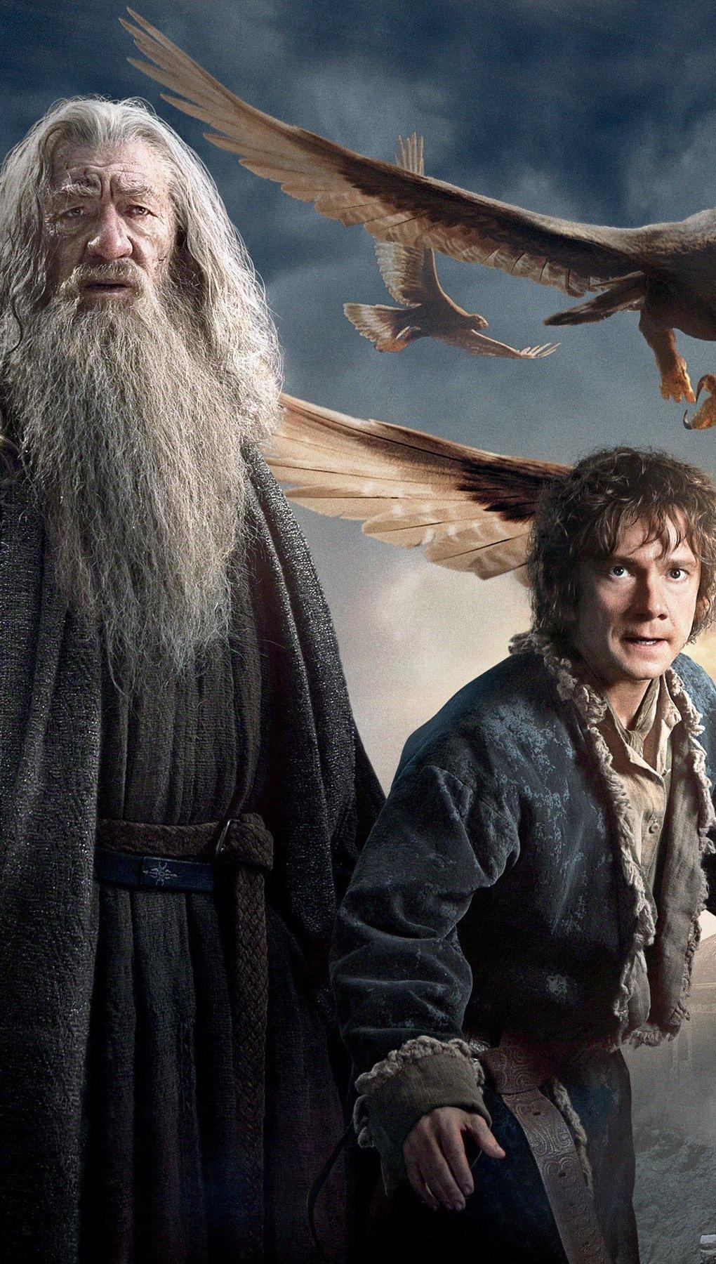 Wallpaper Gandalf and Bilbo Baggings in The Hobbit Vertical