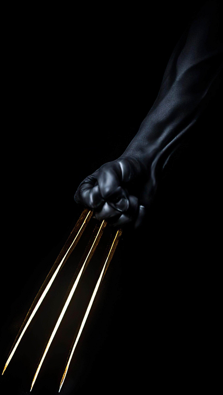 Fondos de pantalla Garras de Wolverine doradas Vertical