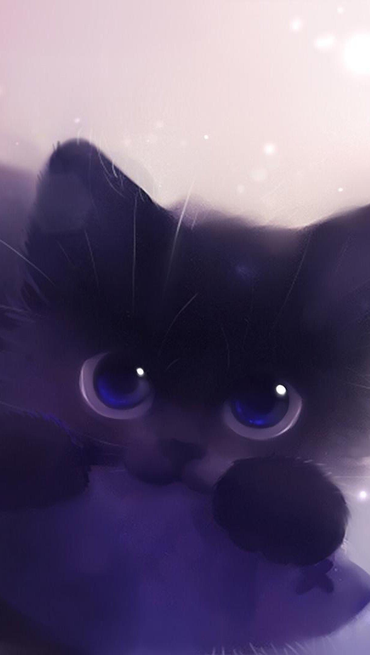 Wallpaper Cat Art Vertical
