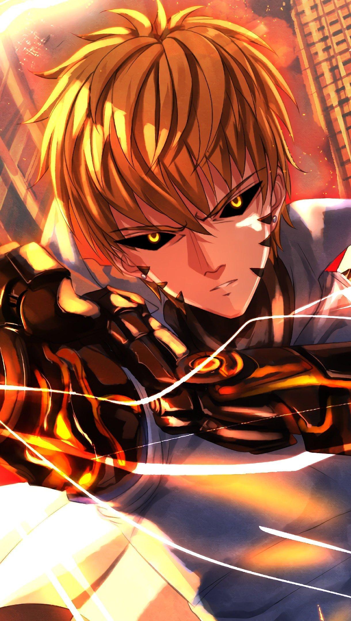 Anime Wallpaper Genos One Punch Man Vertical