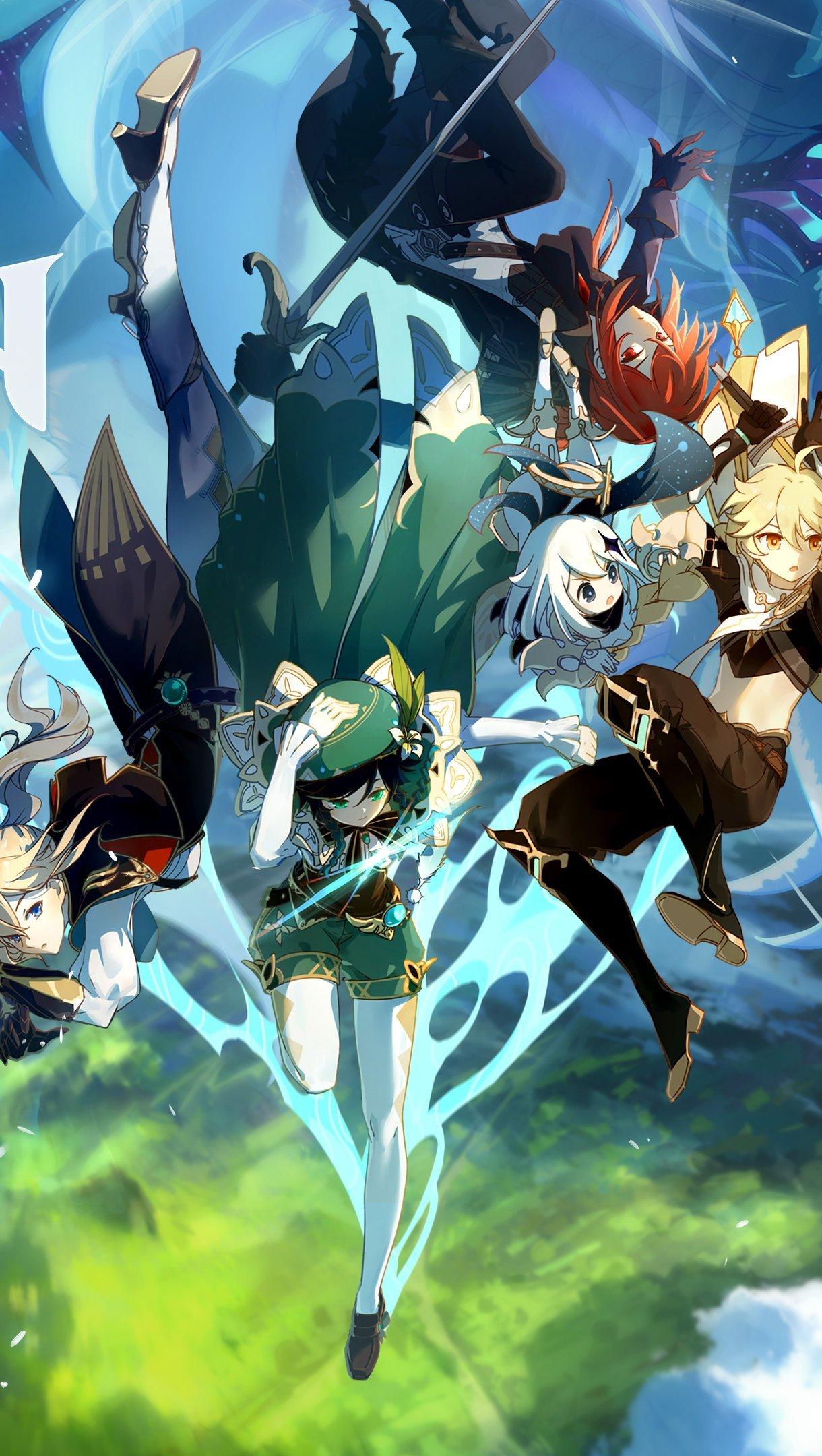 Fondos de pantalla Genshin Impact Personajes Vertical