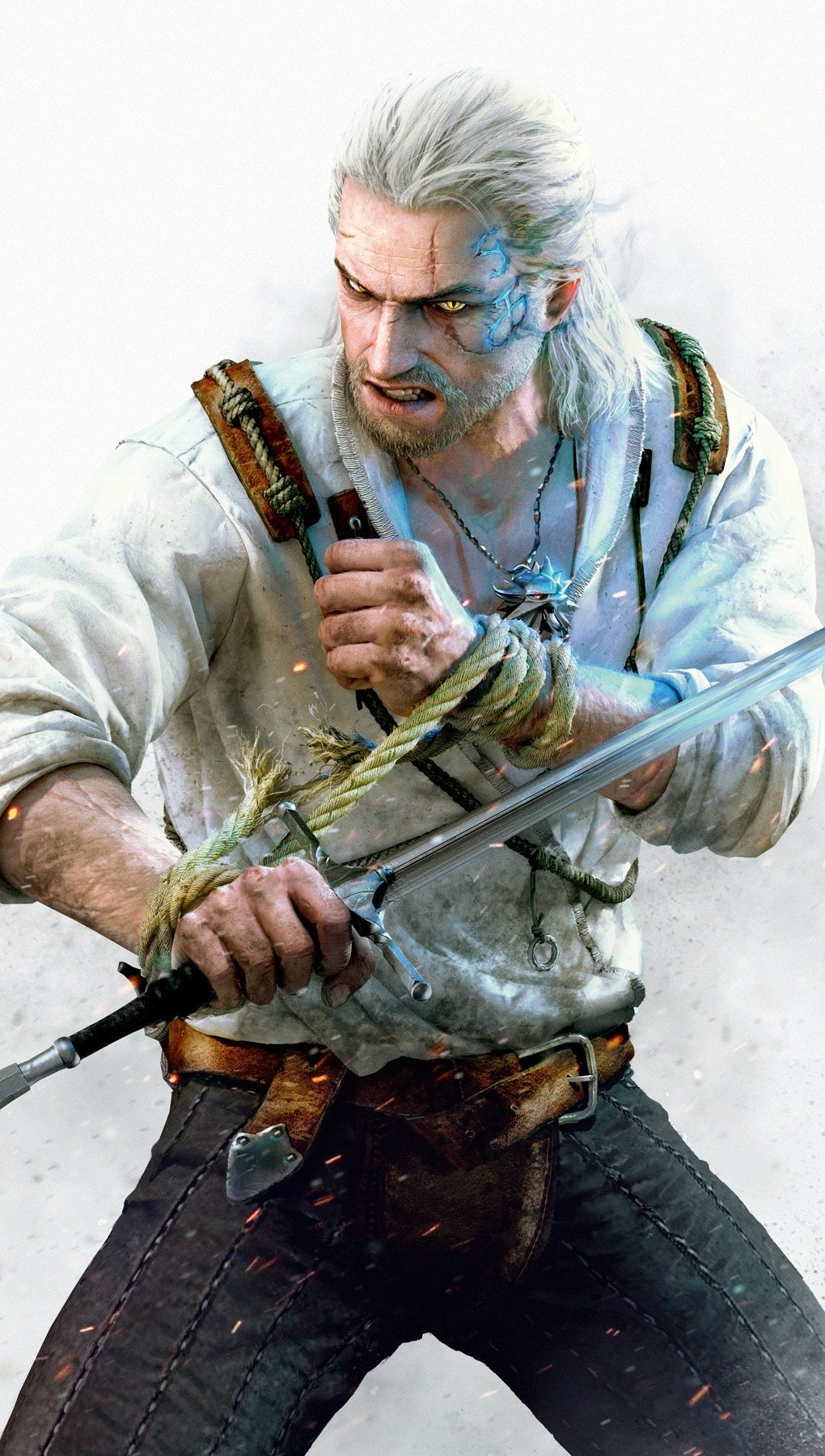Wallpaper Geralt the witcher 3 Hearts of Stone Vertical