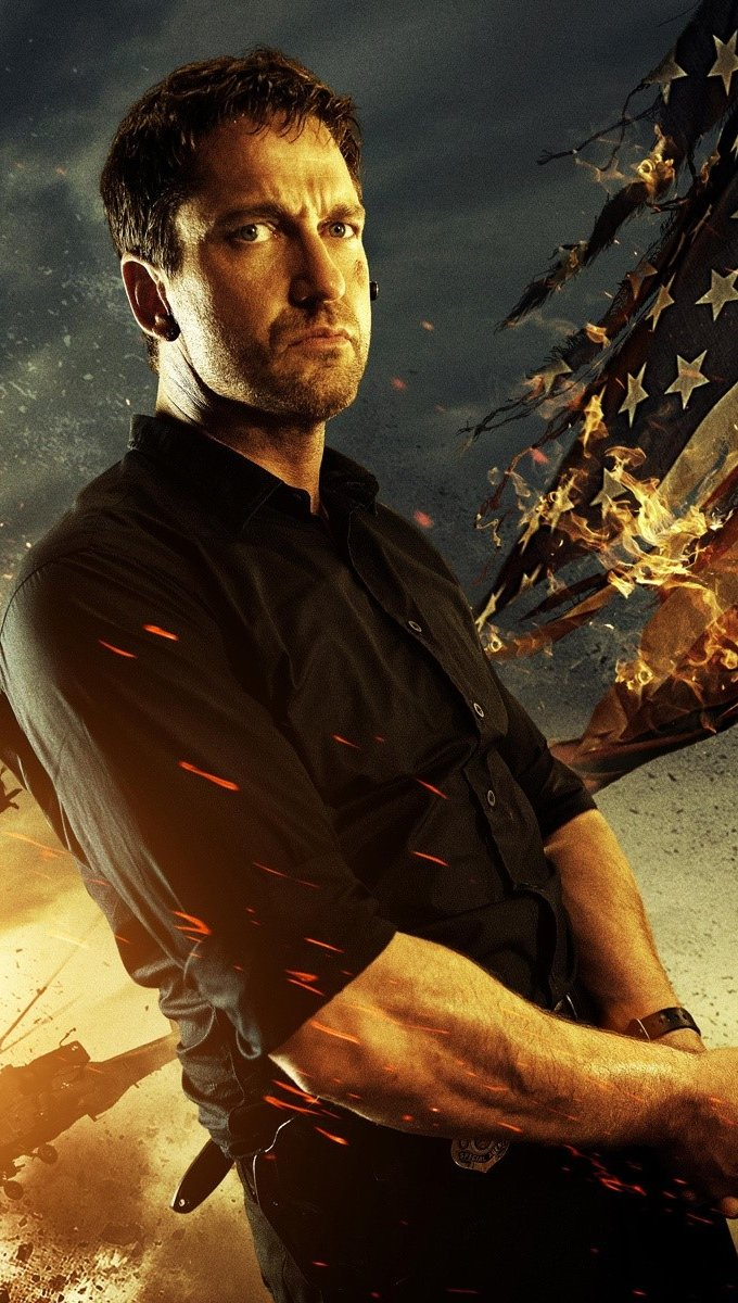 Wallpaper Gerard Butler in Attack on the White House Vertical