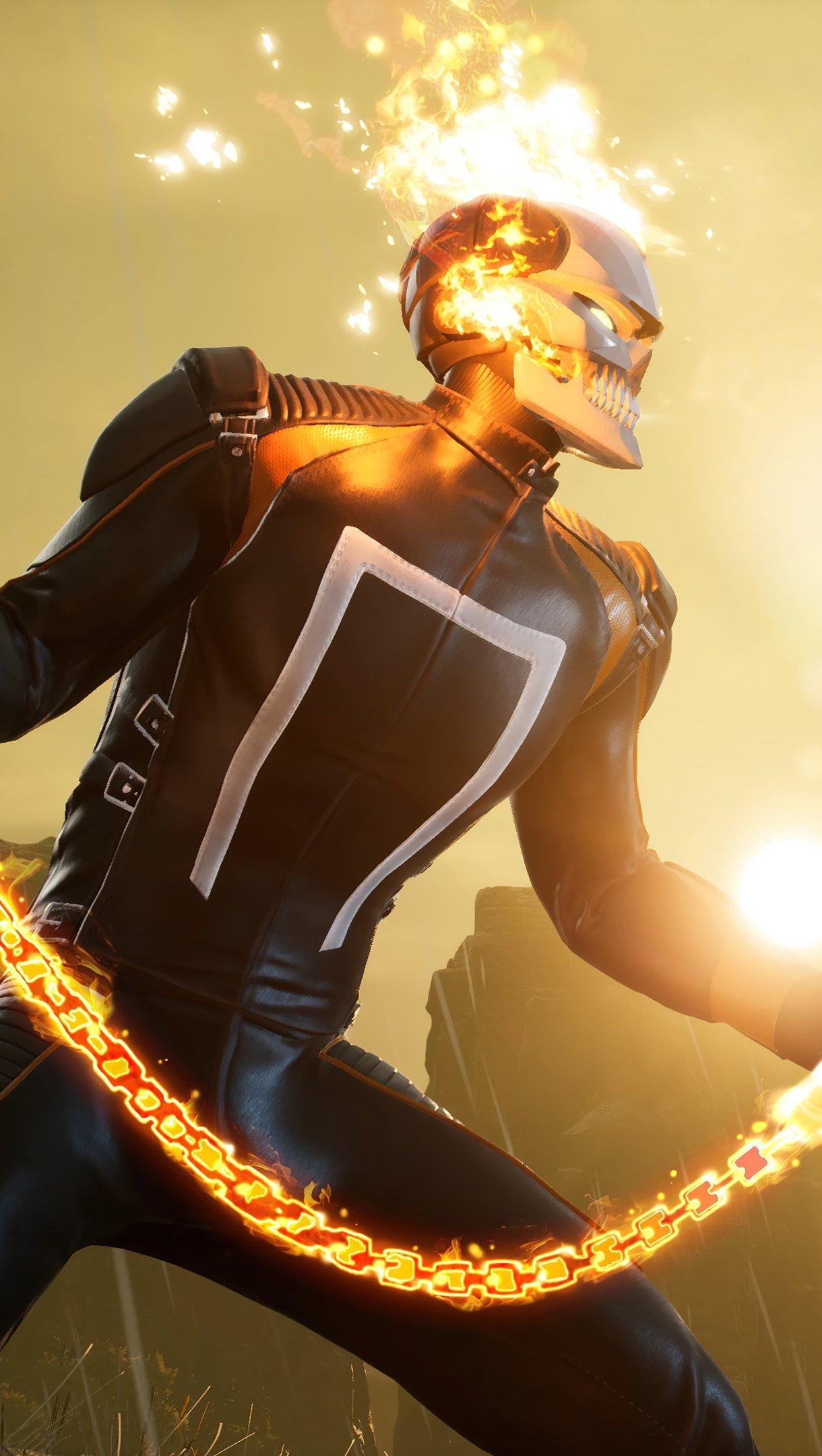 Fondos de pantalla Ghost Rider Marvel's Midnight suns Vertical
