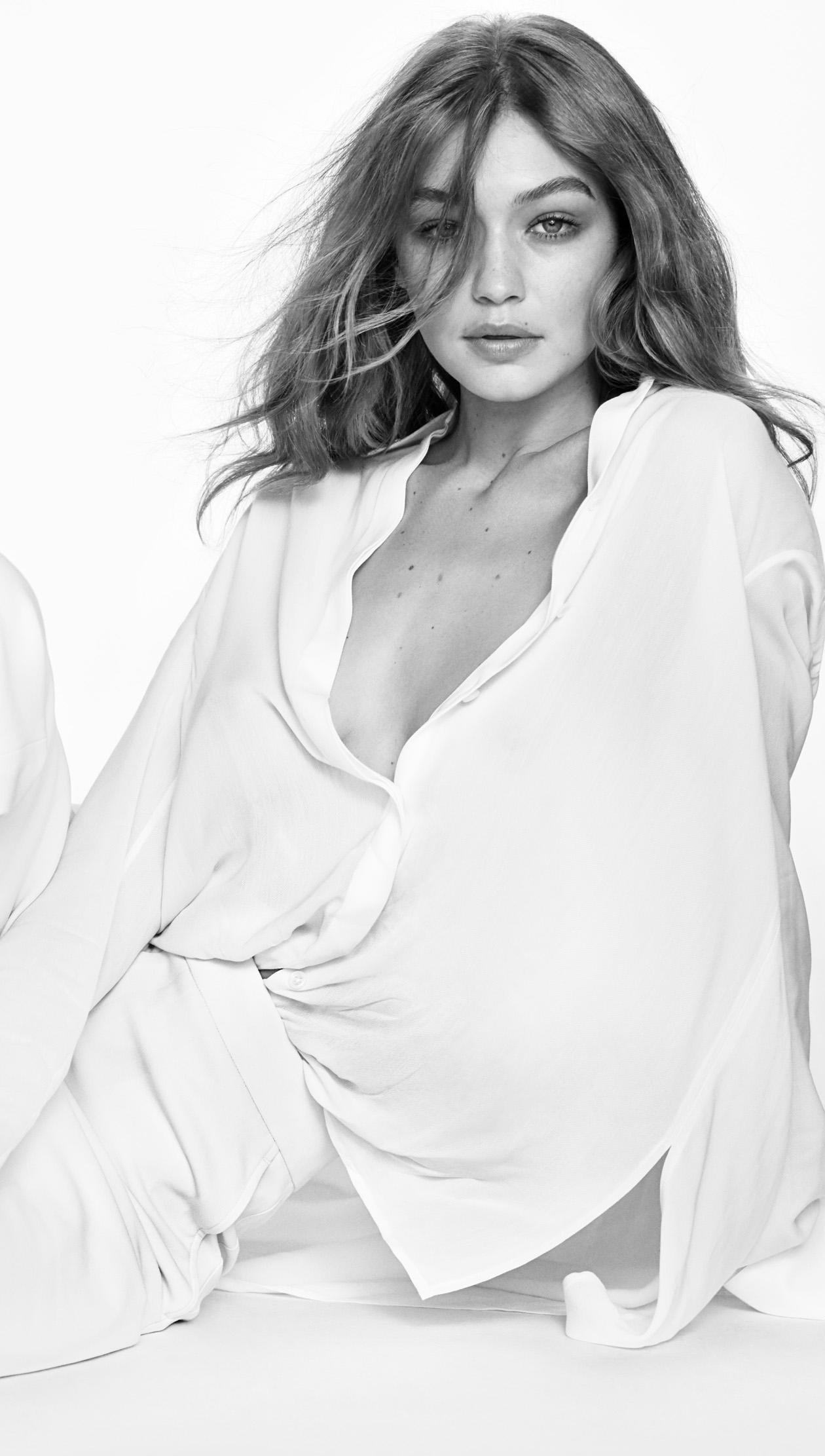Fondos de pantalla Gigi Hadid blanco y negro Vertical