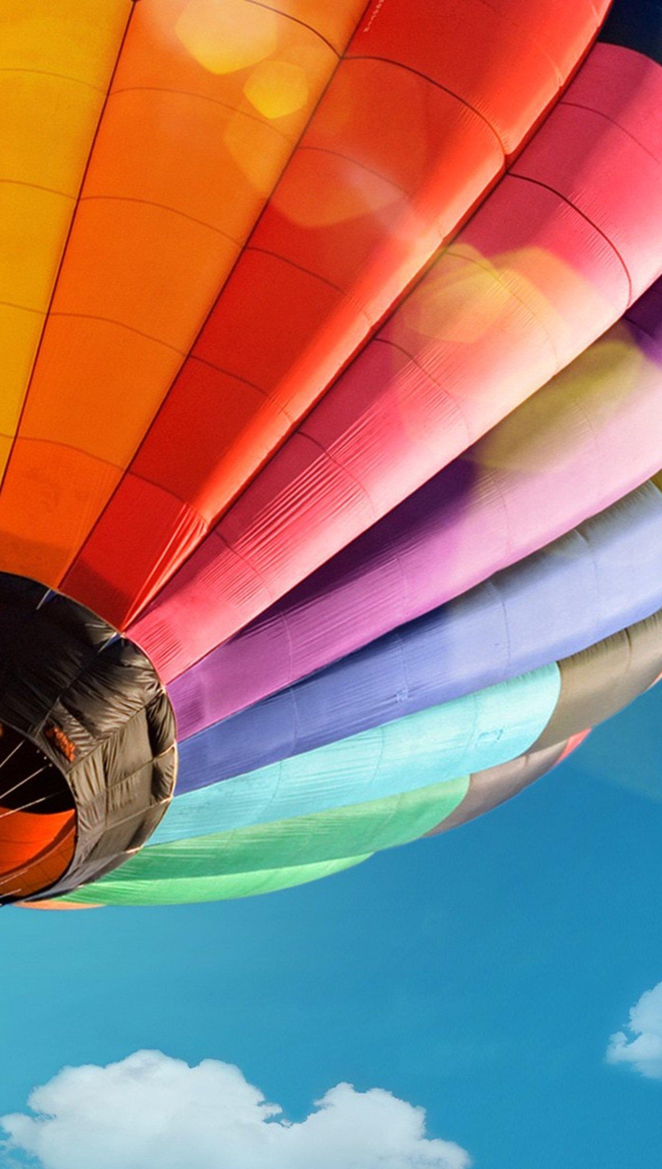 Fondos de pantalla Globo Aerostático Colorido Vertical