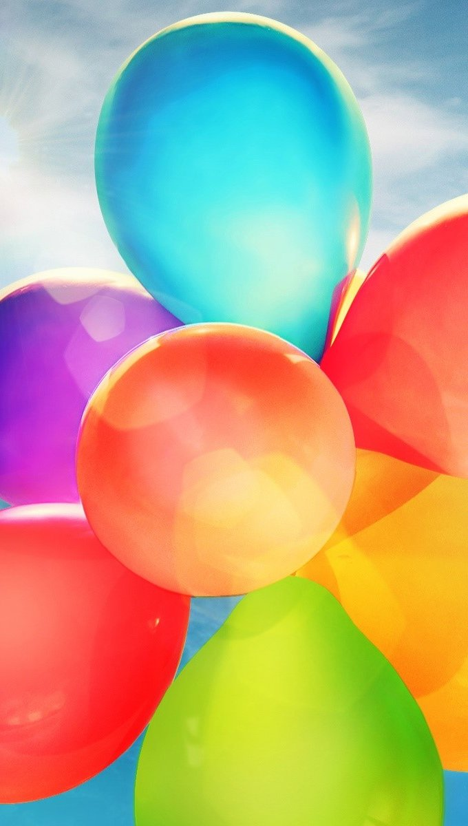 Wallpaper Colorful balloons Vertical