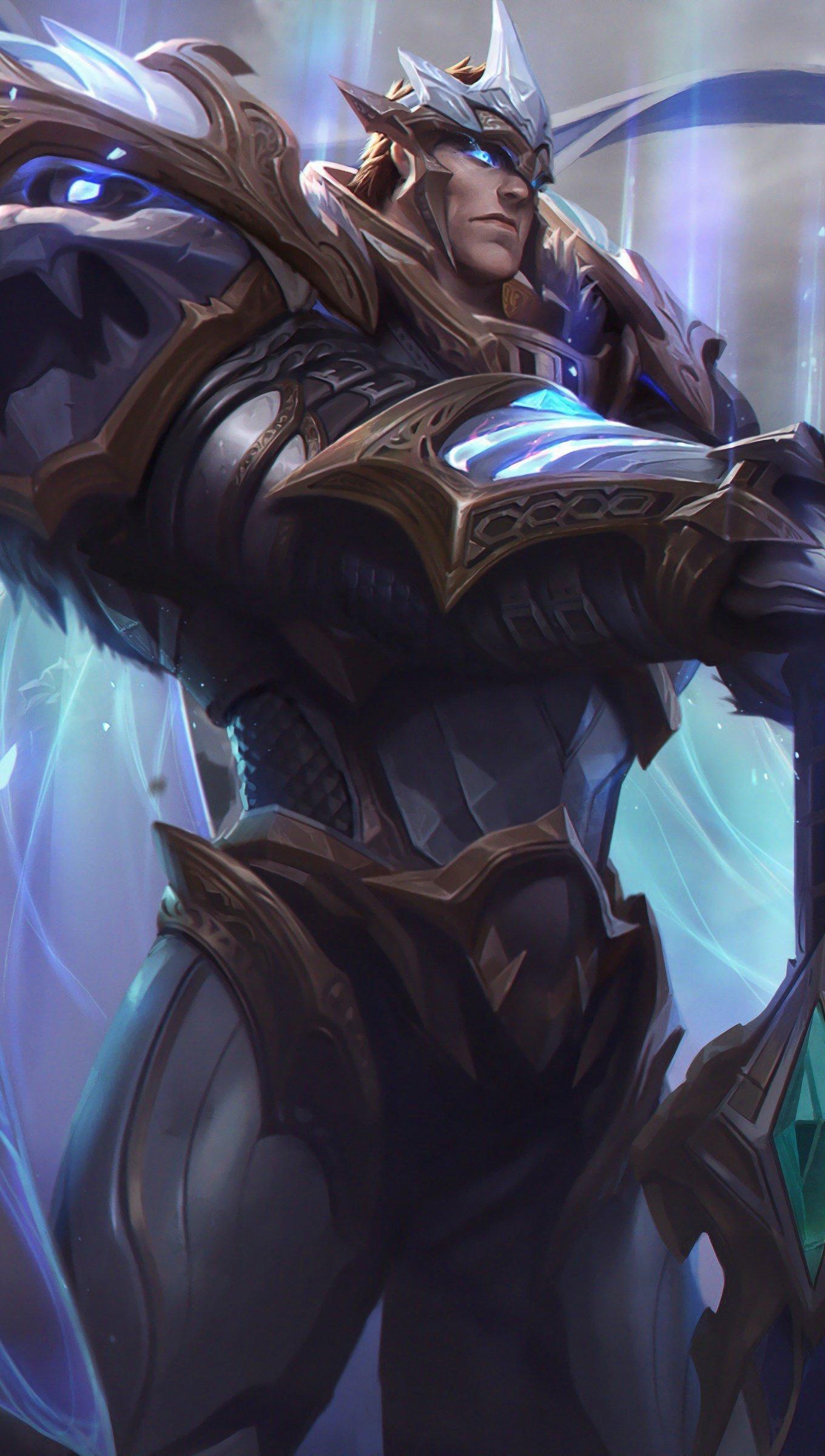 Wallpaper God King Garen from League of Legends Vertical