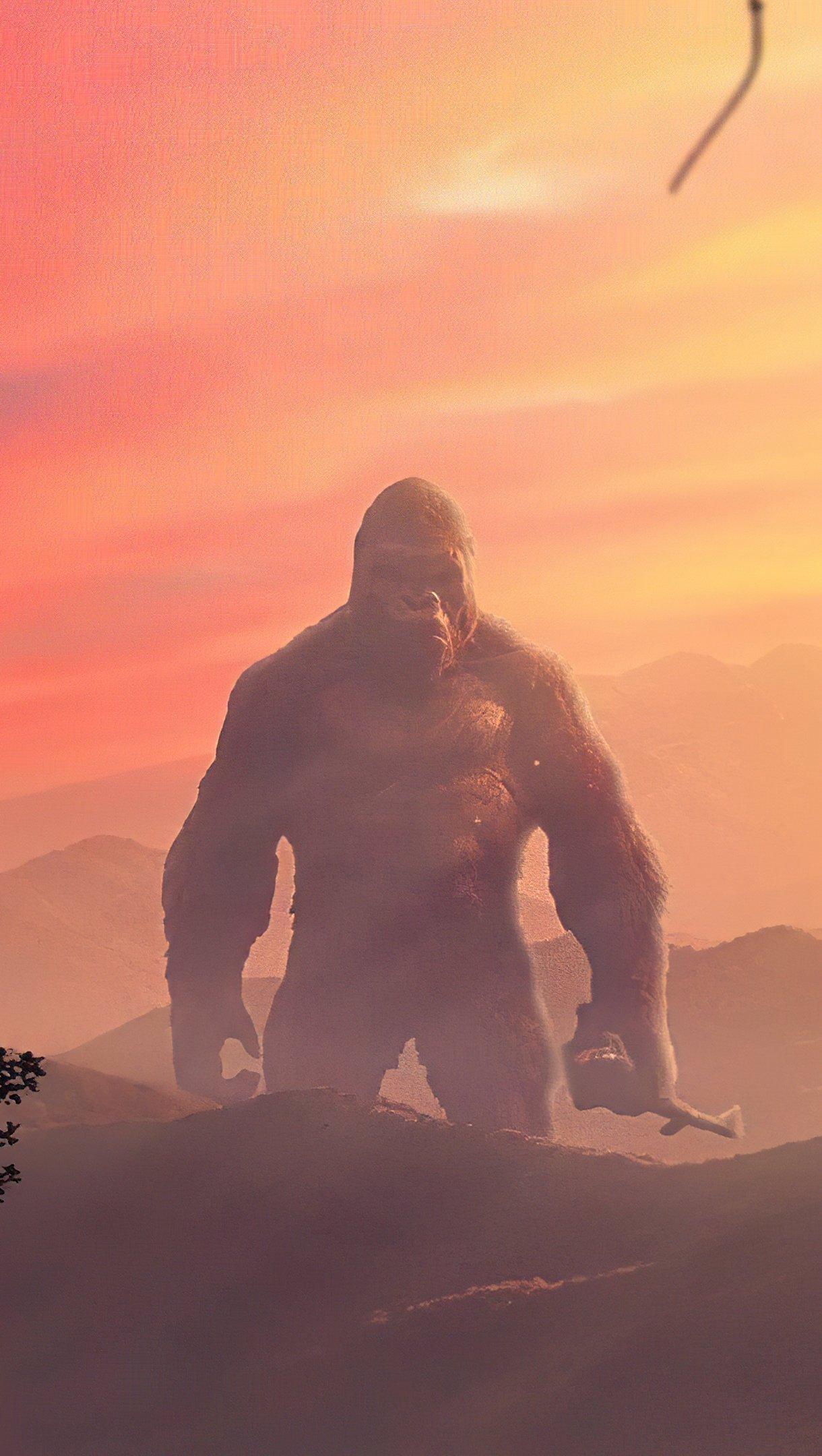 Fondos de pantalla Godzilla vs Kong Poster Vertical