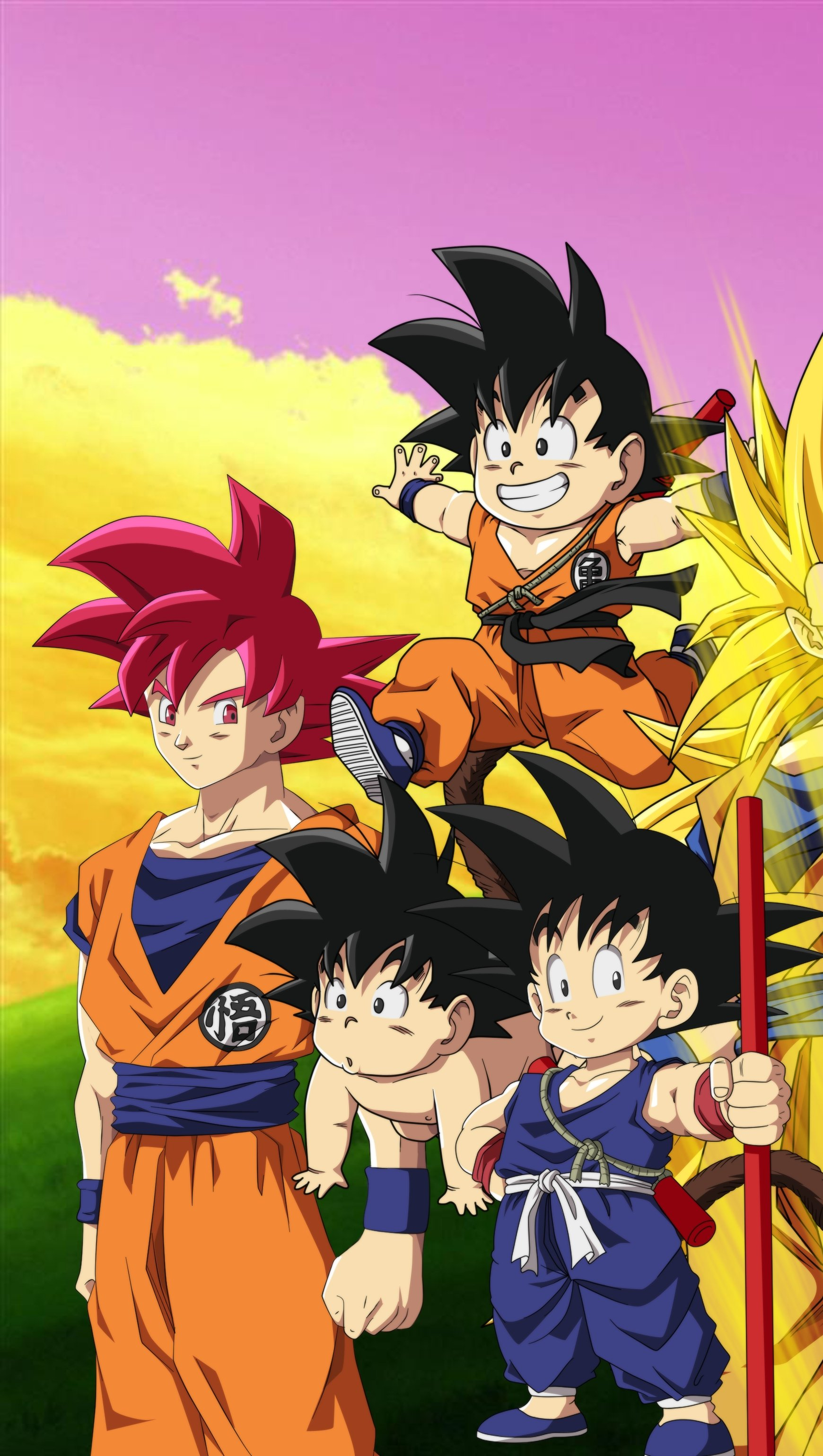 Fondos de pantalla Anime Goku Vertical