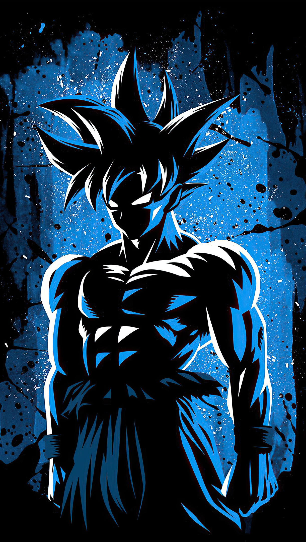 Fondos de pantalla Anime Goku diseño minimalista 2020 Vertical