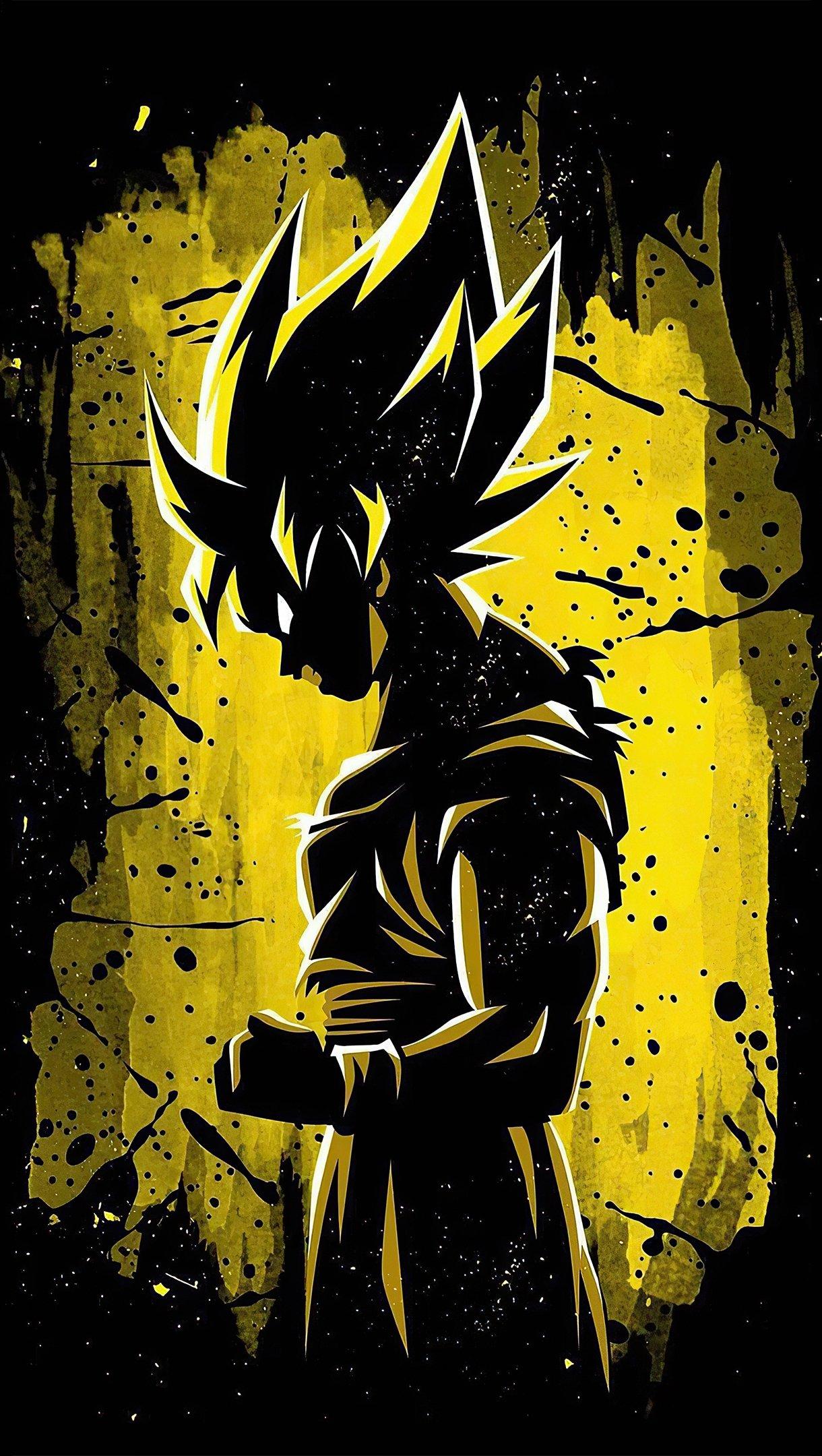 Anime Wallpaper Goku Minimalist illustration Vertical