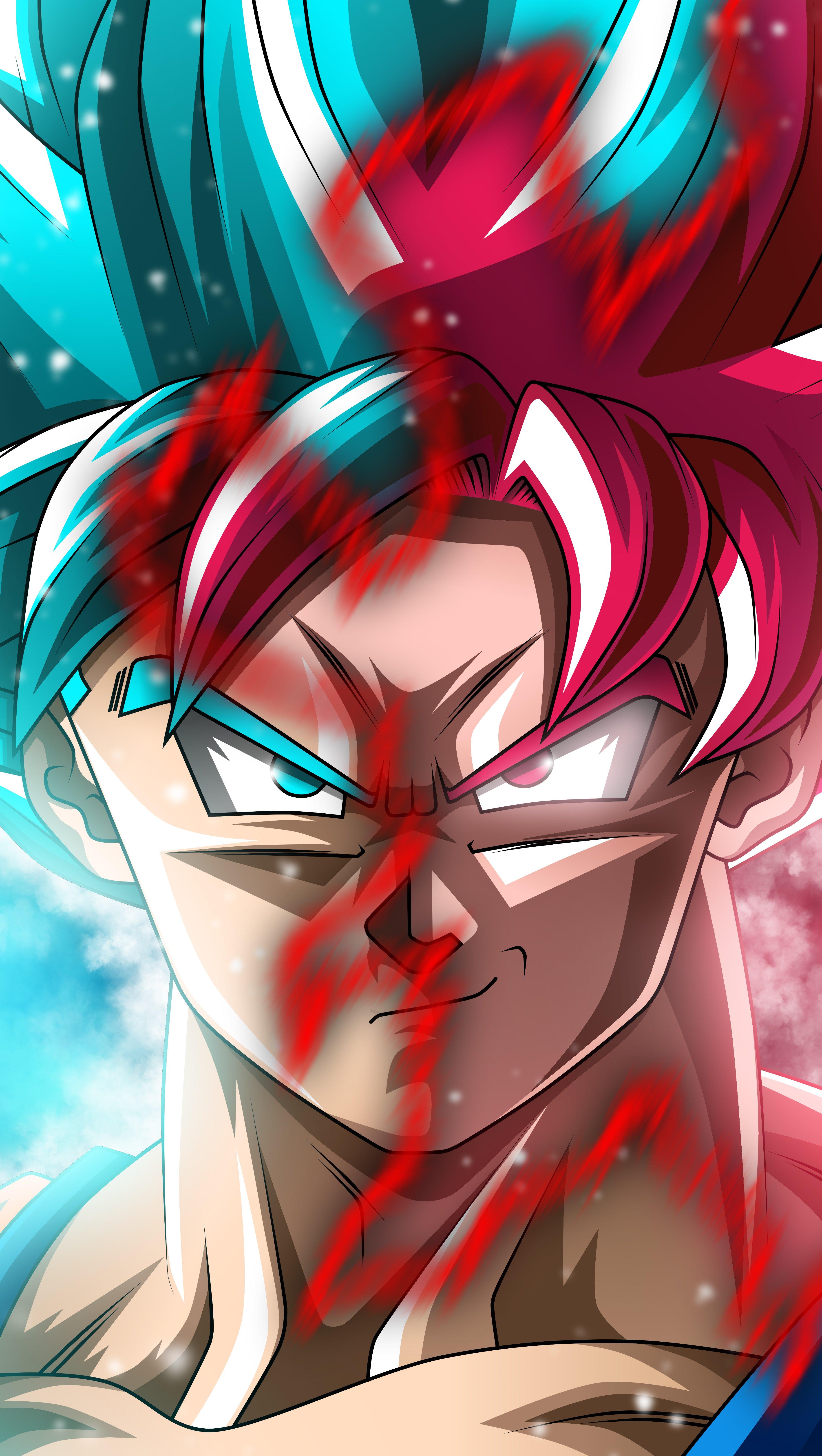 Fondos de pantalla Anime Goku Super Saiyan Blue and Black Goku SSR Dragon Ball Super Vertical