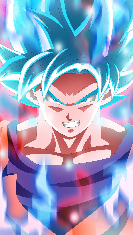 Fondos de pantalla Anime Goku Super Saiyan Blue de Dragon Ball Super Vertical