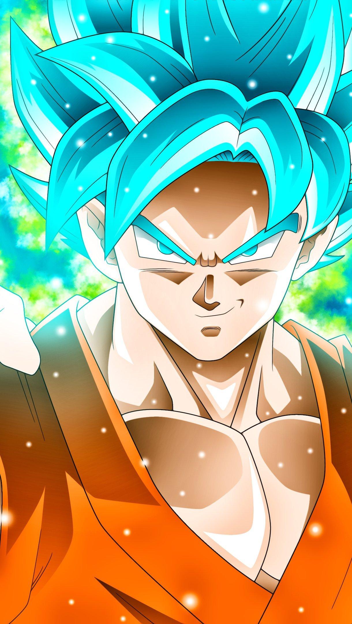 Anime Wallpaper Goku Super Saiyan Blue Dragon Ball Super Vertical