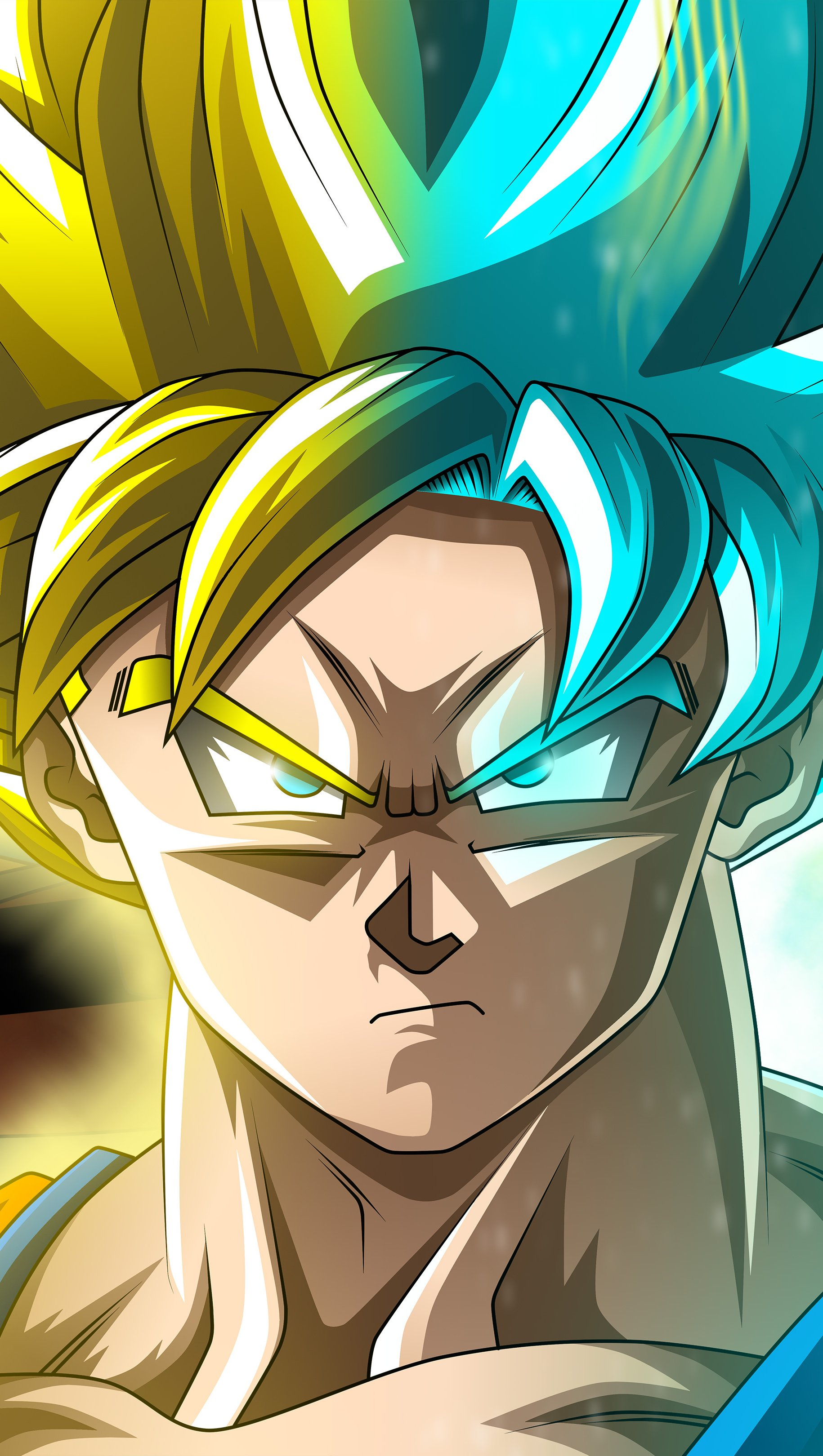 Fondos de pantalla Anime Goku Super Saiyan Dragon Ball Super Vertical