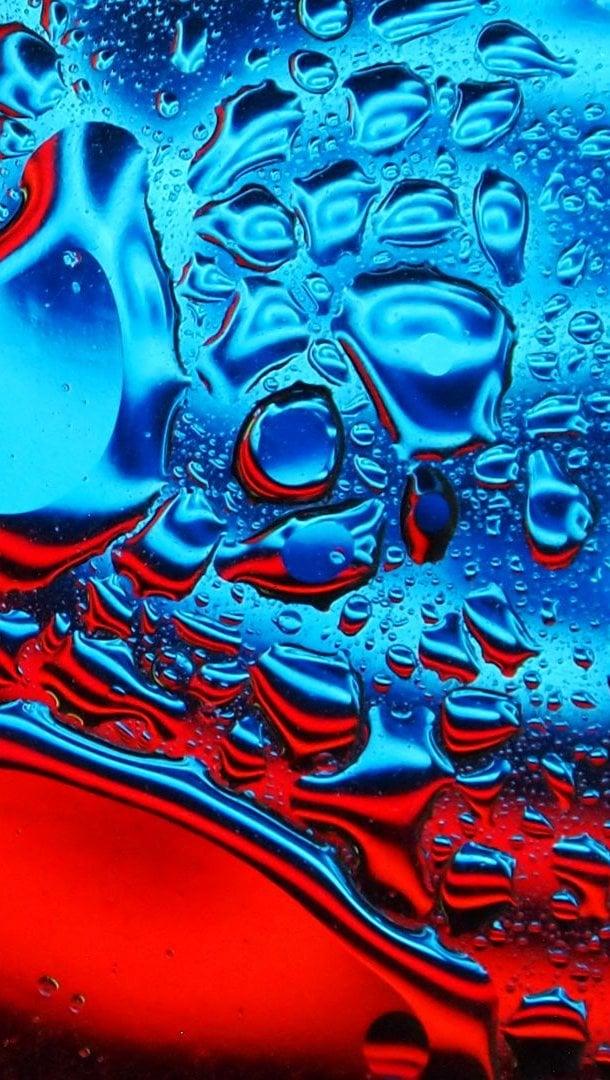 Fondos de pantalla Gotas de agua de colores Vertical