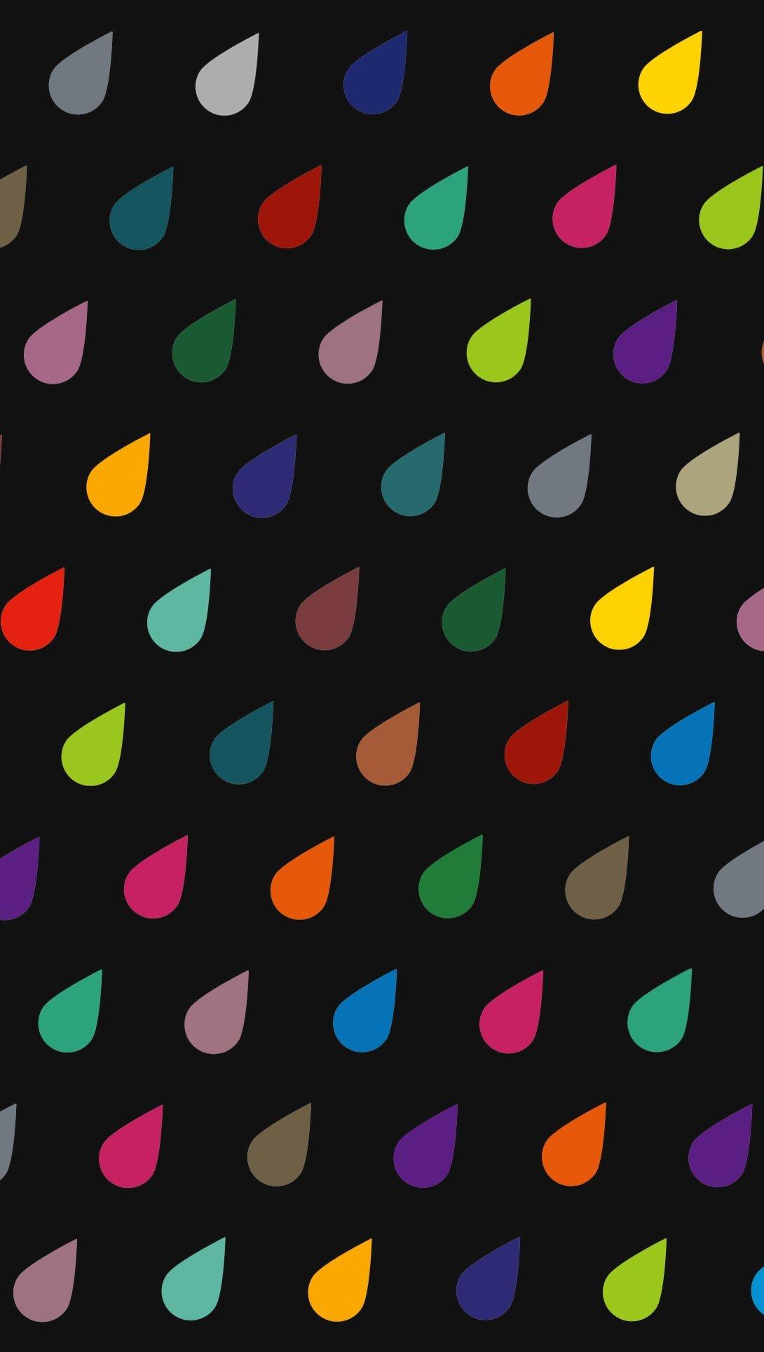 Fondos de pantalla Gotas de colores Vertical