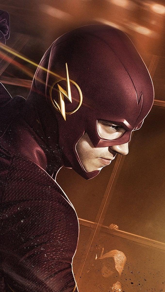 Wallpaper Grant Gustin as Flash Vertical