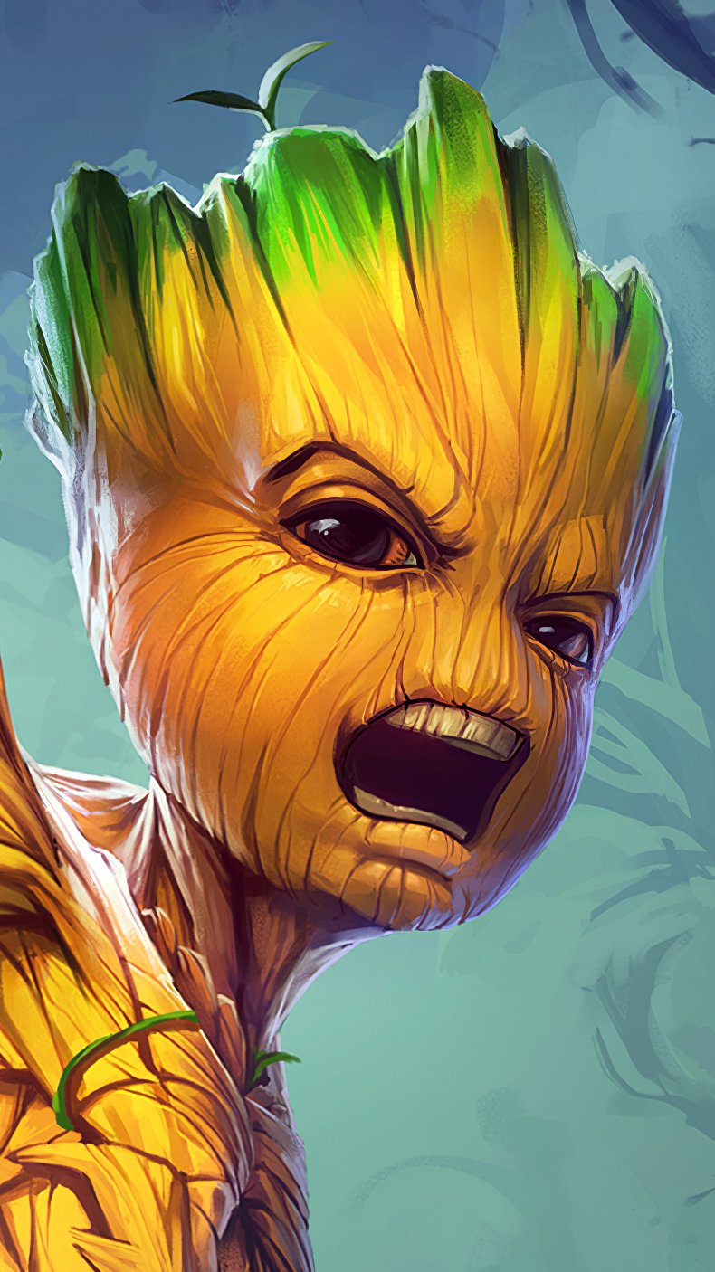 Wallpaper Groot from Guardians of the galaxy Vertical