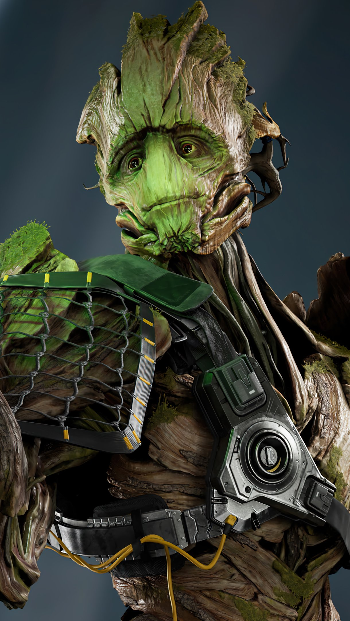 Wallpaper Groot Marvels Guardians of the galaxy Vertical
