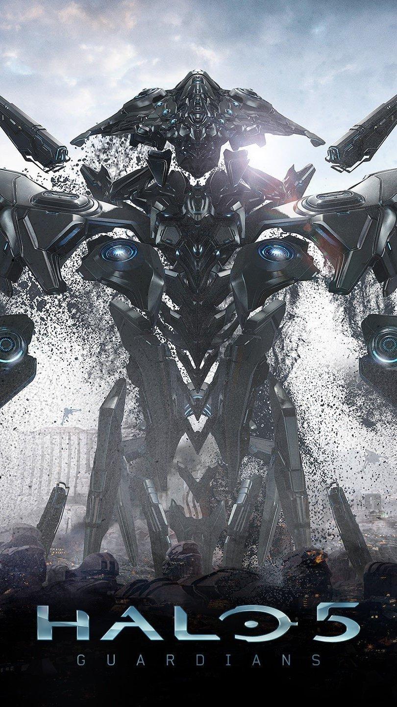 Wallpaper Guardian of Halo 5 Vertical
