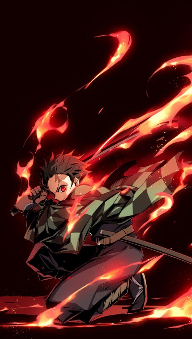 Anime Wallpaper Demon Slayer: Kimetsu No Yaiba Vertical