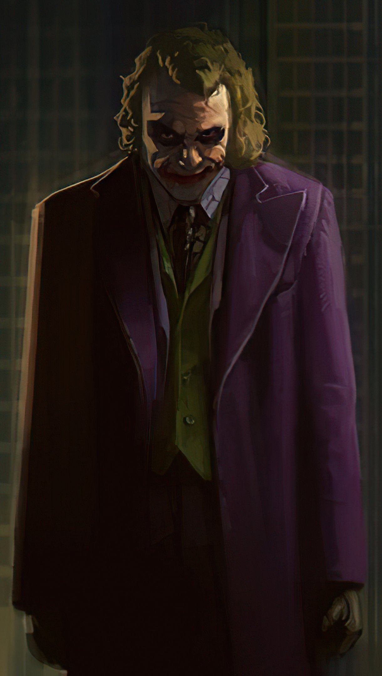 Wallpaper Joker with gun Poster Vertical