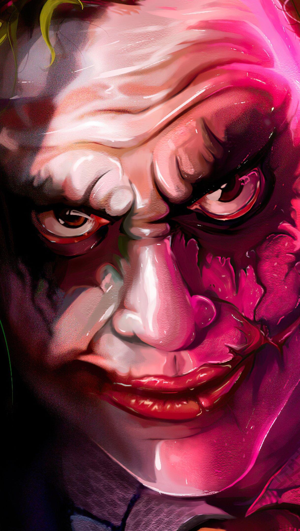 Wallpaper Joker with anarchist card Vertical