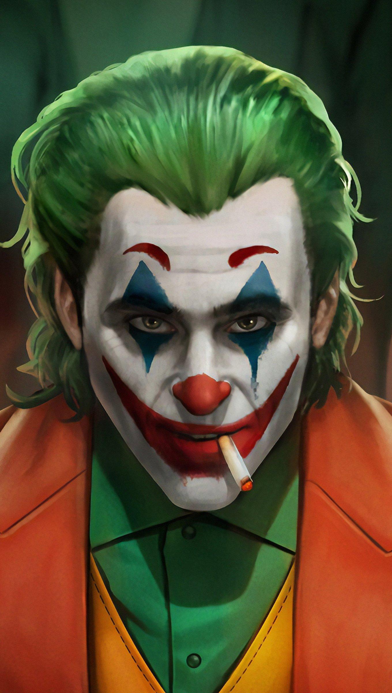 Wallpaper Joker with clowns Fanart Vertical
