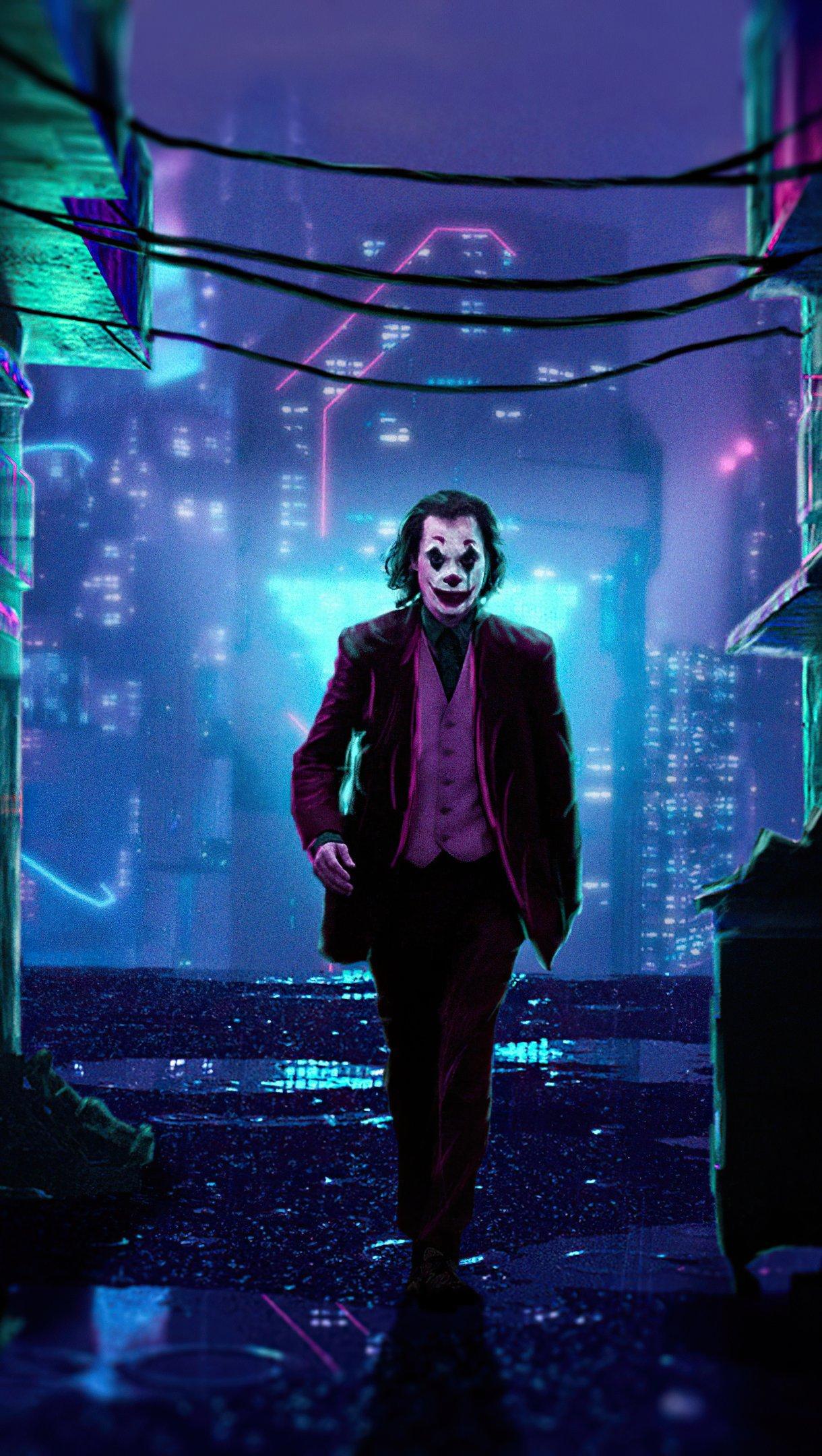 Wallpaper Joker x Cyberpunk 2077 Vertical