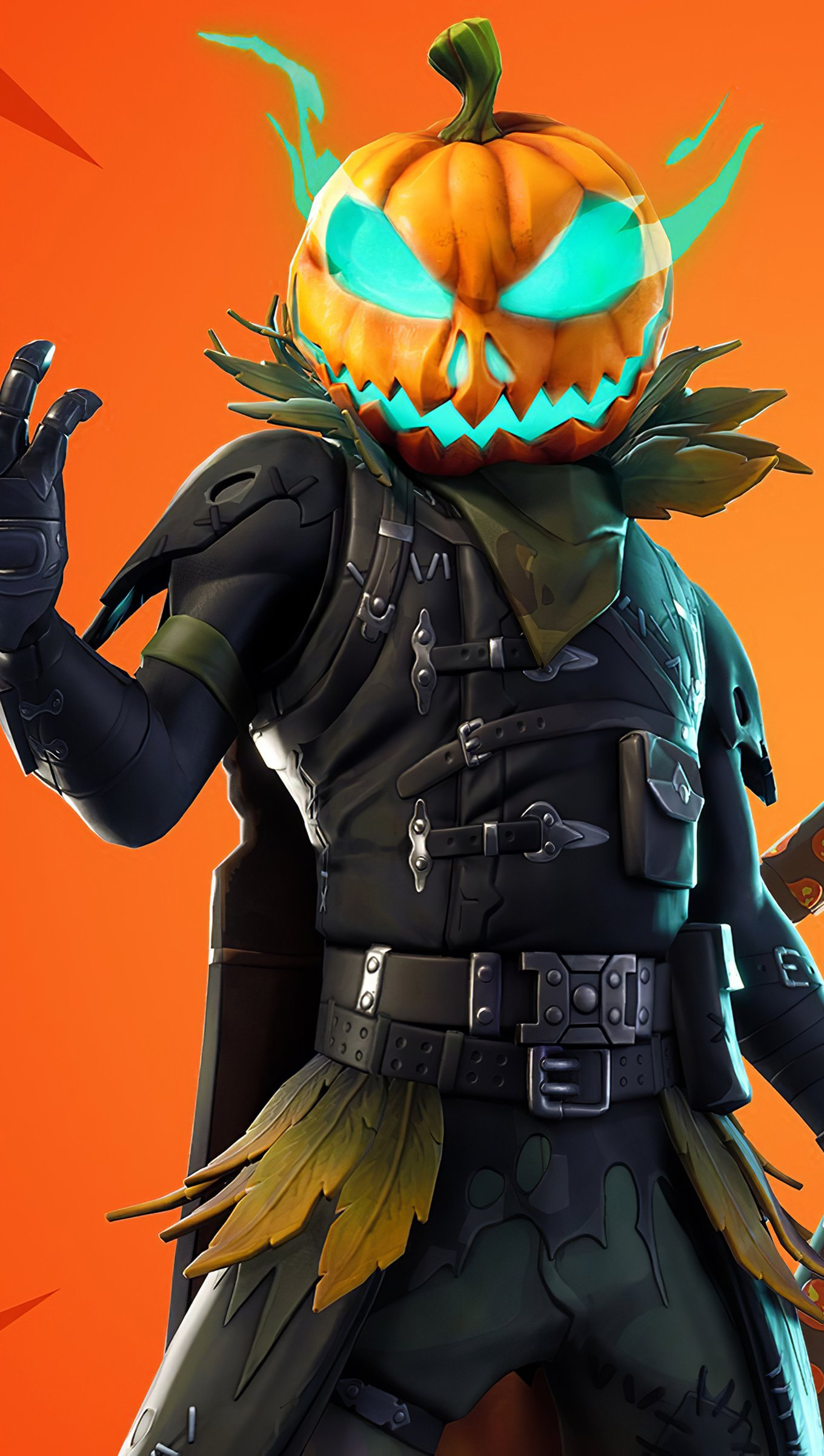 Wallpaper Halloweenhead and Jack Gourdon Fortnite Vertical