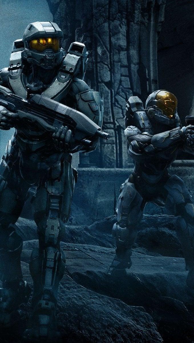 Wallpaper Halo 5 Guardians Team Chief Vertical