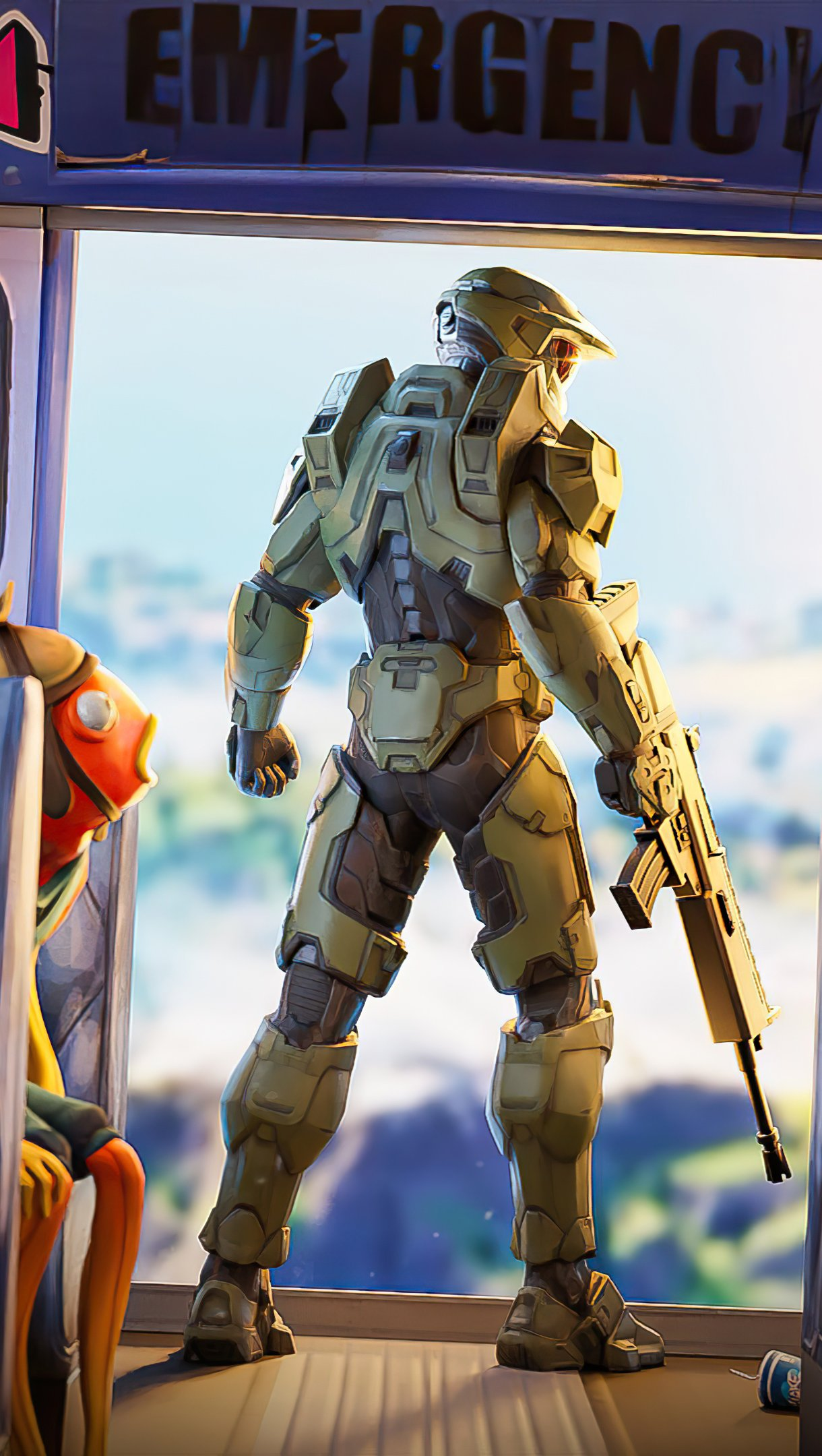 Fondos de pantalla Halo Chief Fortnite Vertical