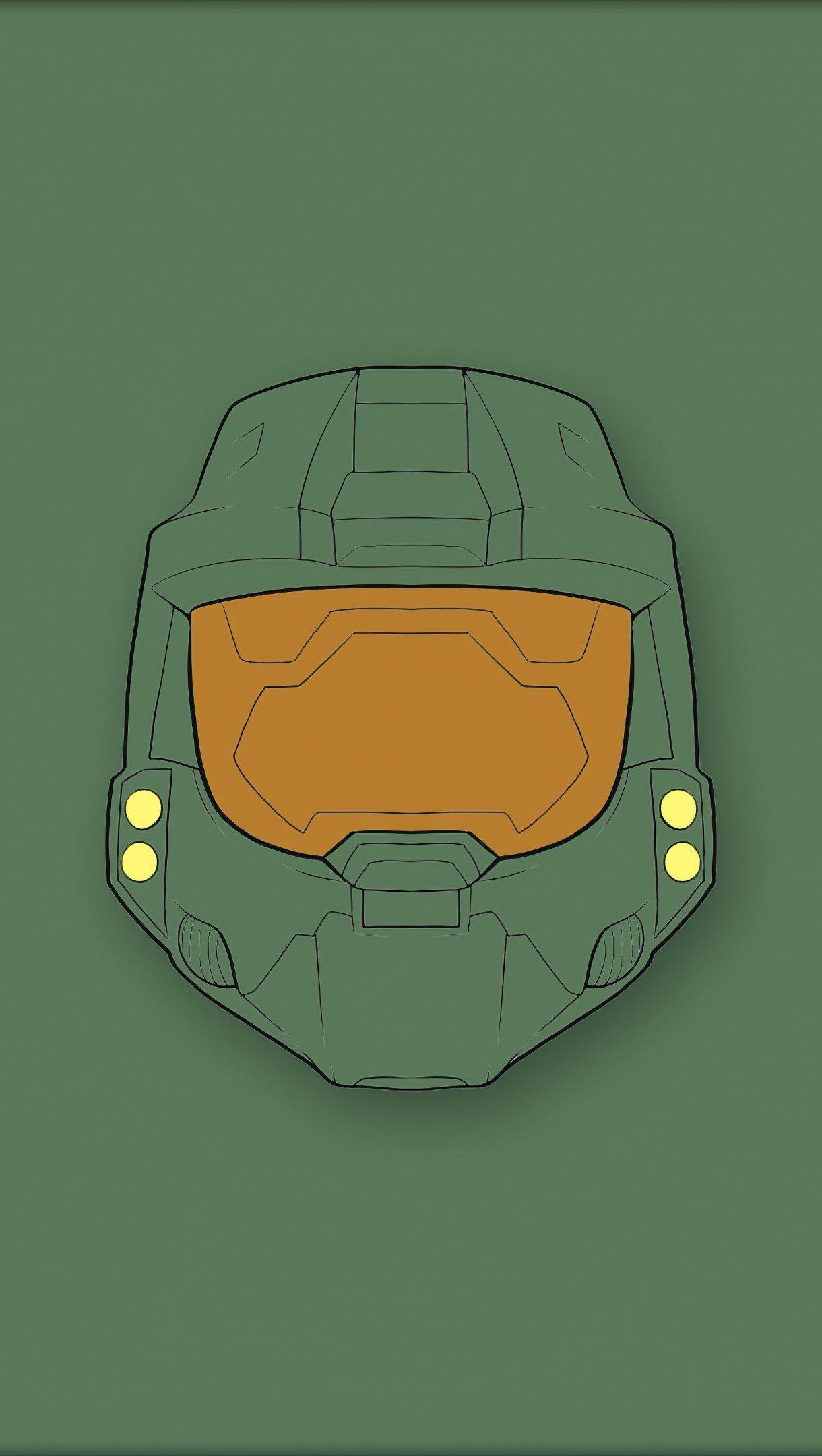 Wallpaper Halo Master Chief Minimalist Vertical
