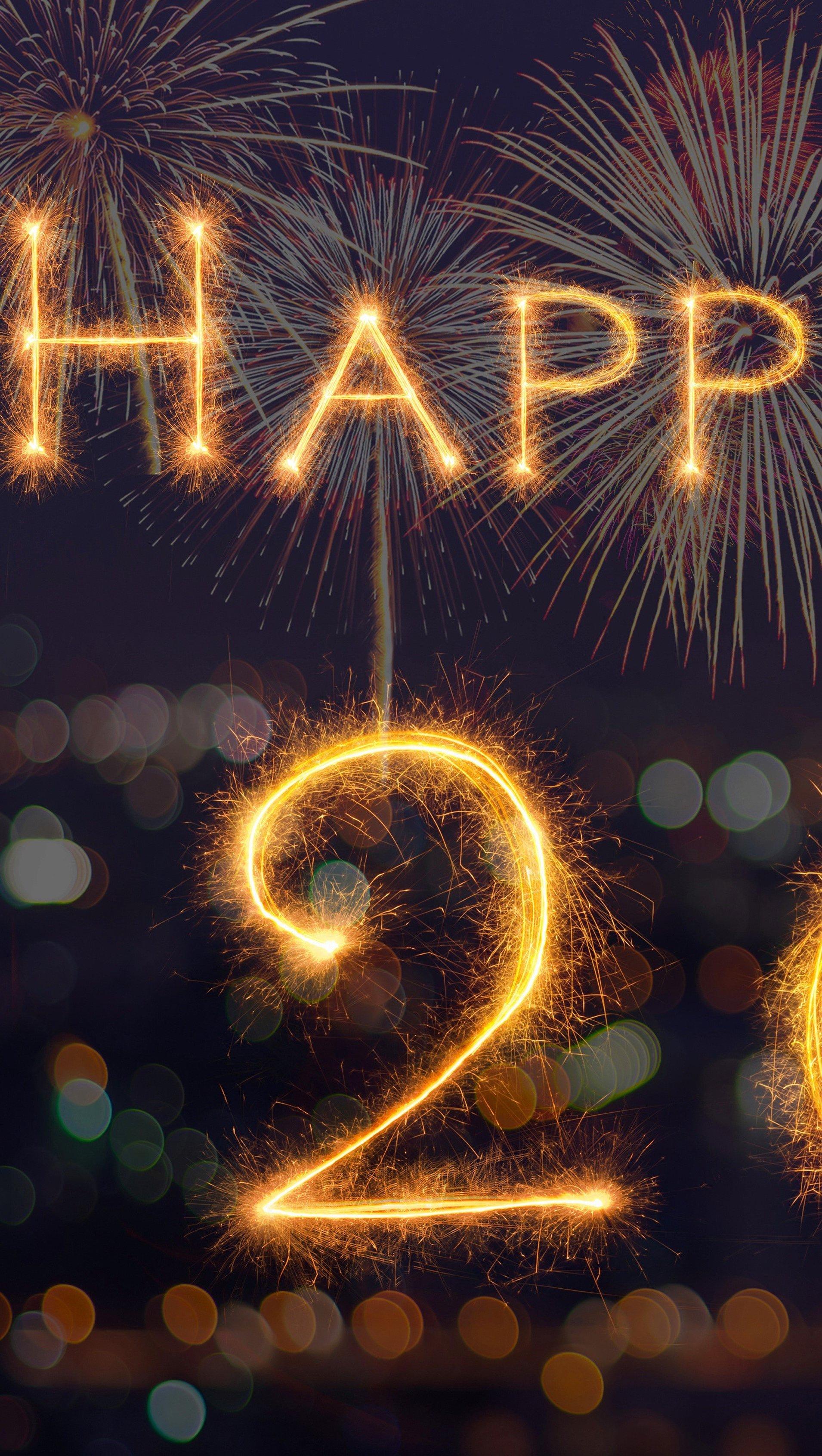 Wallpaper Happy New Year 2017 Vertical