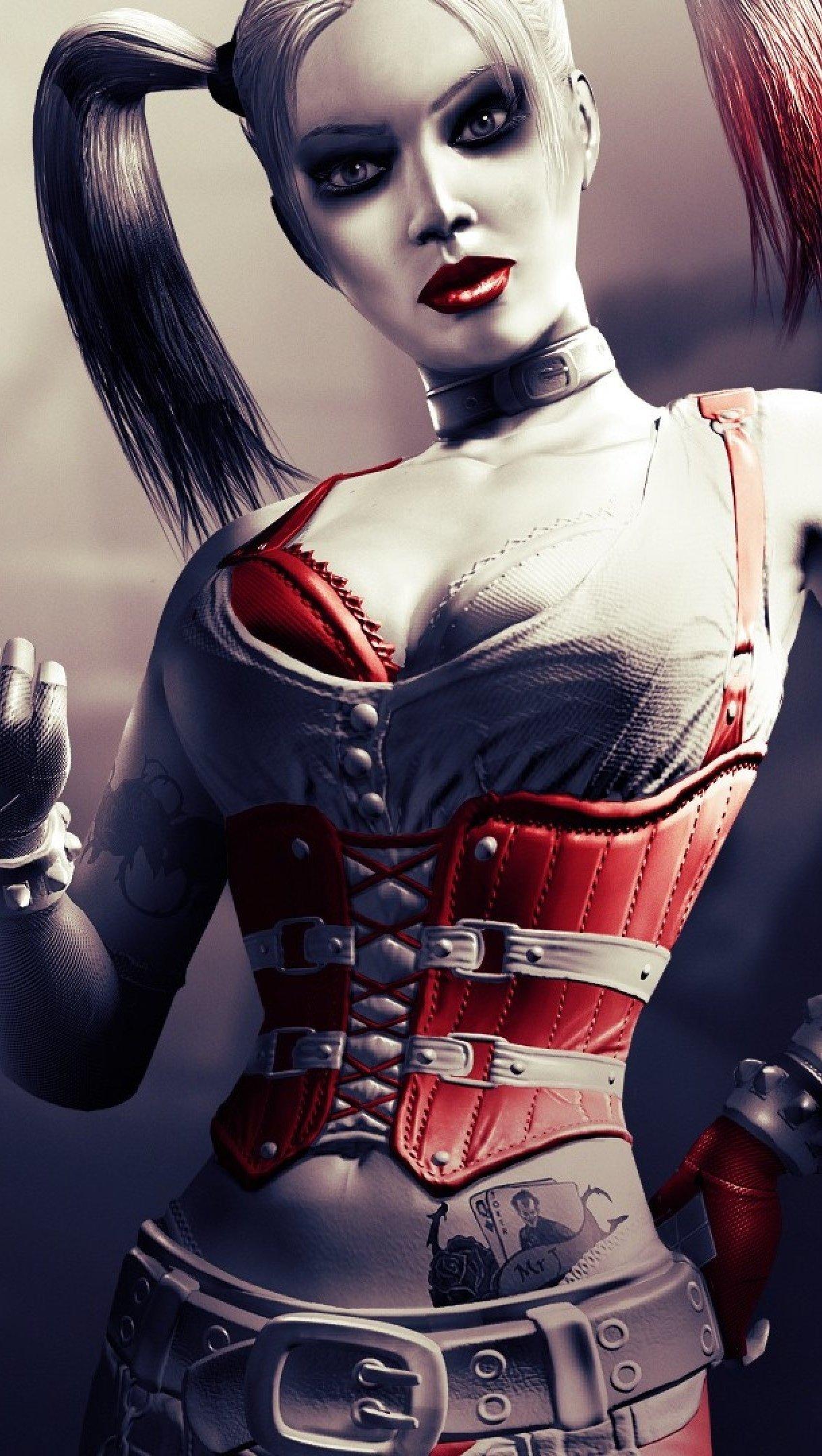 Fondos de pantalla Harley Quinn Batman Arkham City Vertical