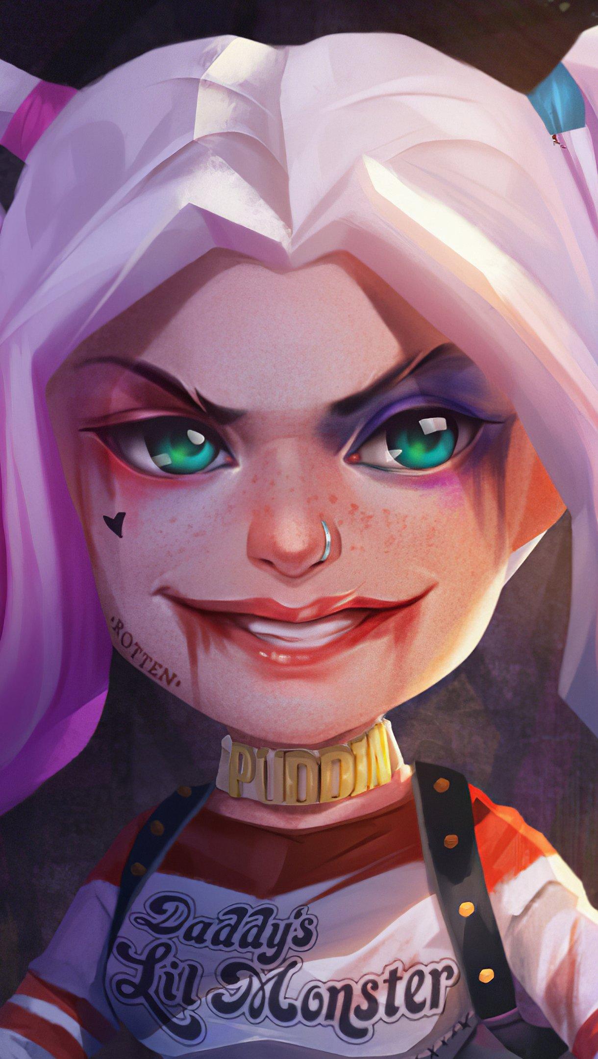Fondos de pantalla Harley Quinn como funko pop Fanart Vertical