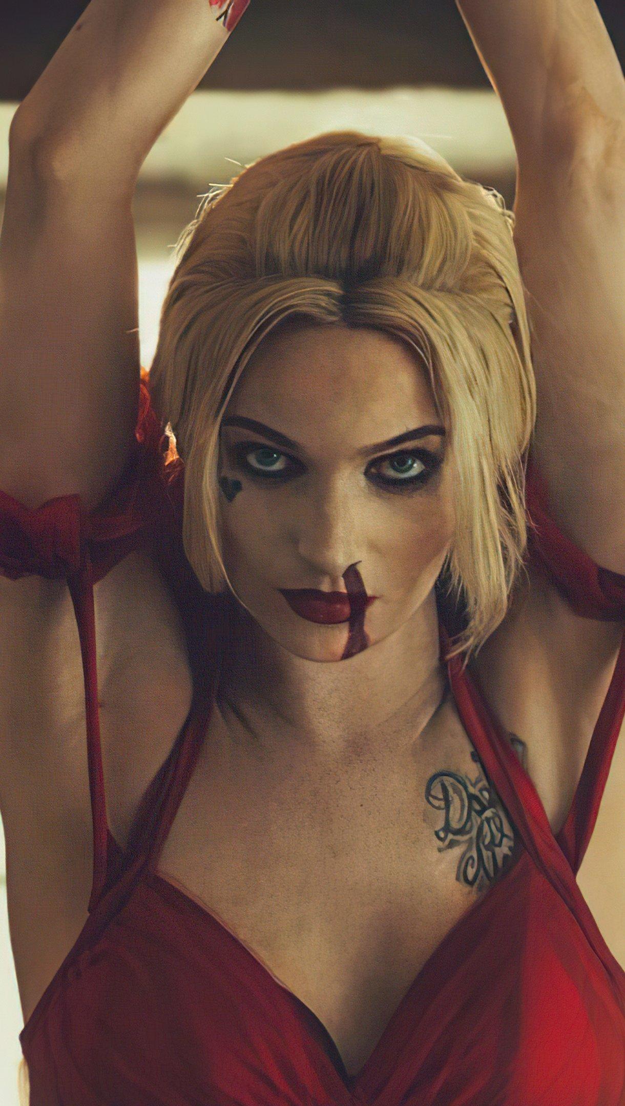 Fondos de pantalla Harley Quinn El escuadrón suicida Cosplay Vertical