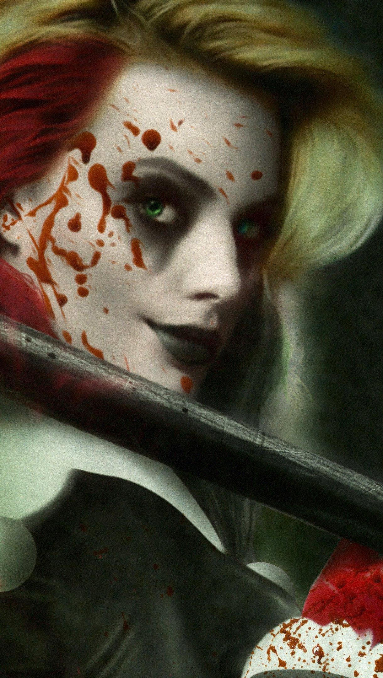 Wallpaper Harley Quinn The bkiid Queen Vertical