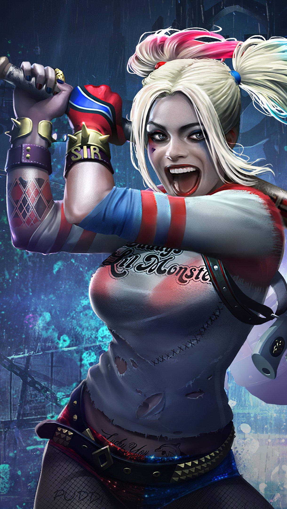 Fondos de pantalla Harley Quinn y Deadshot Injustice 2 Vertical