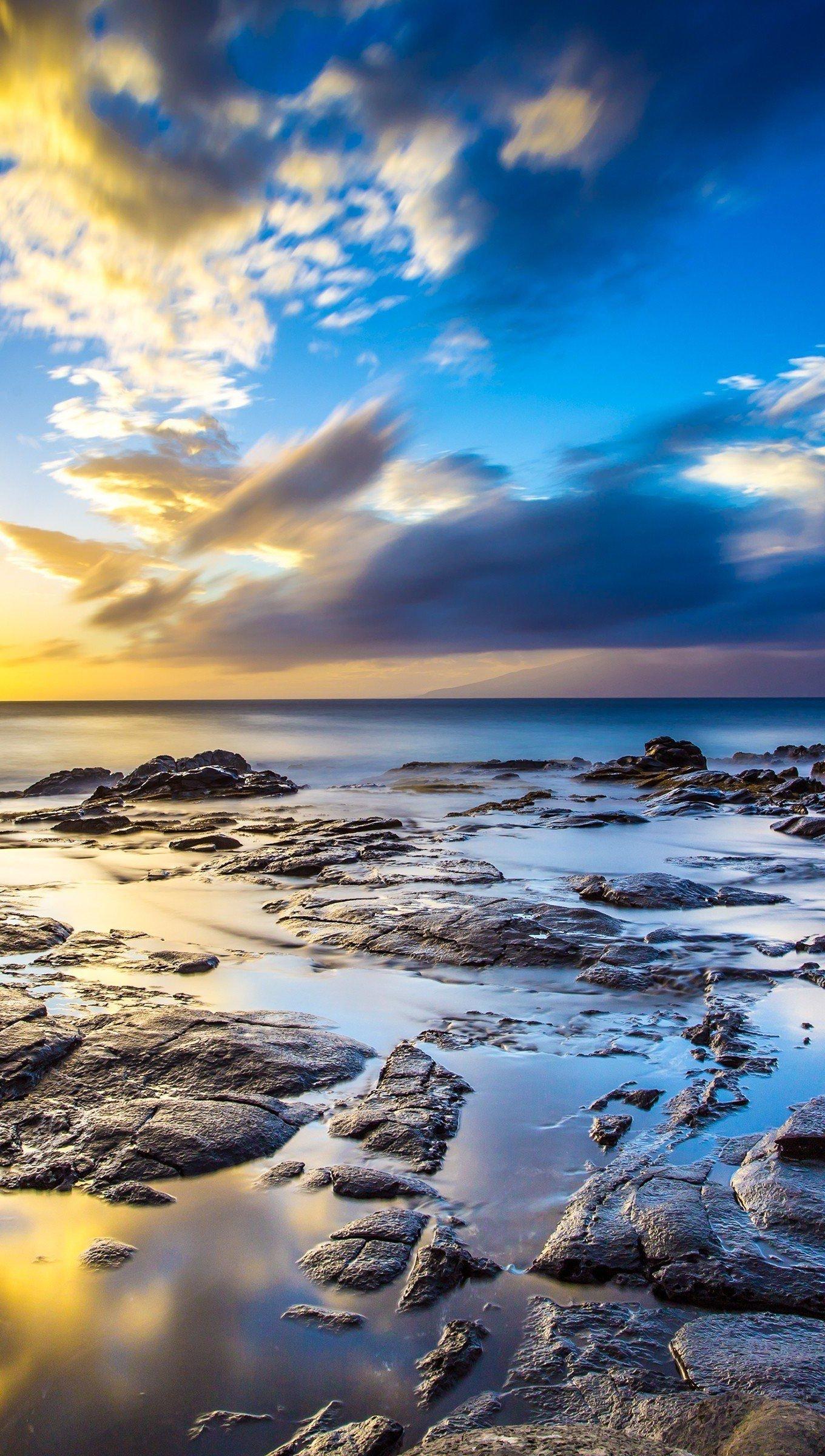 Fondos de pantalla Hawaii puesta de sol Vertical