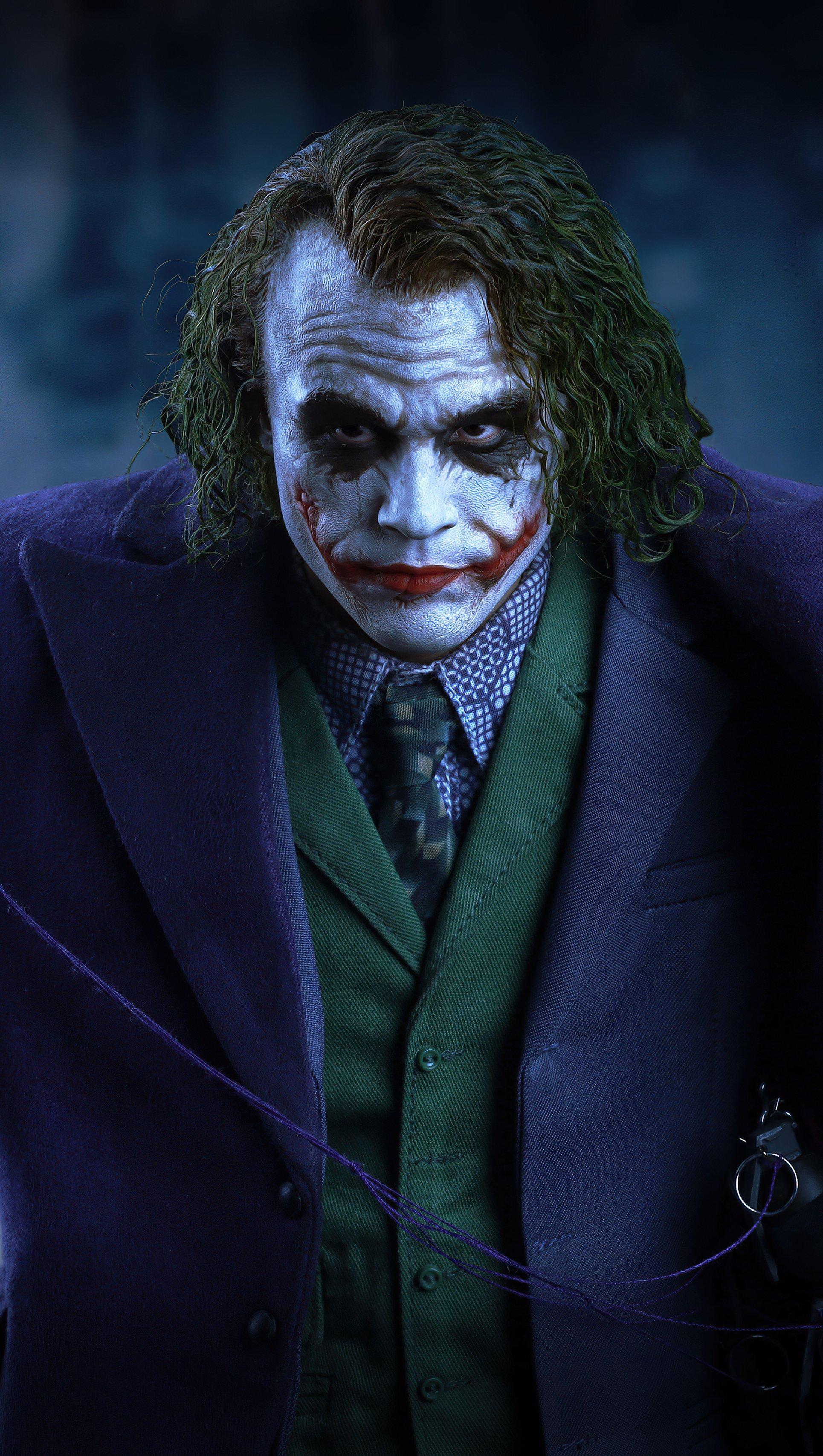 Wallpaper Heath Ledger as Joker Fanart Vertical