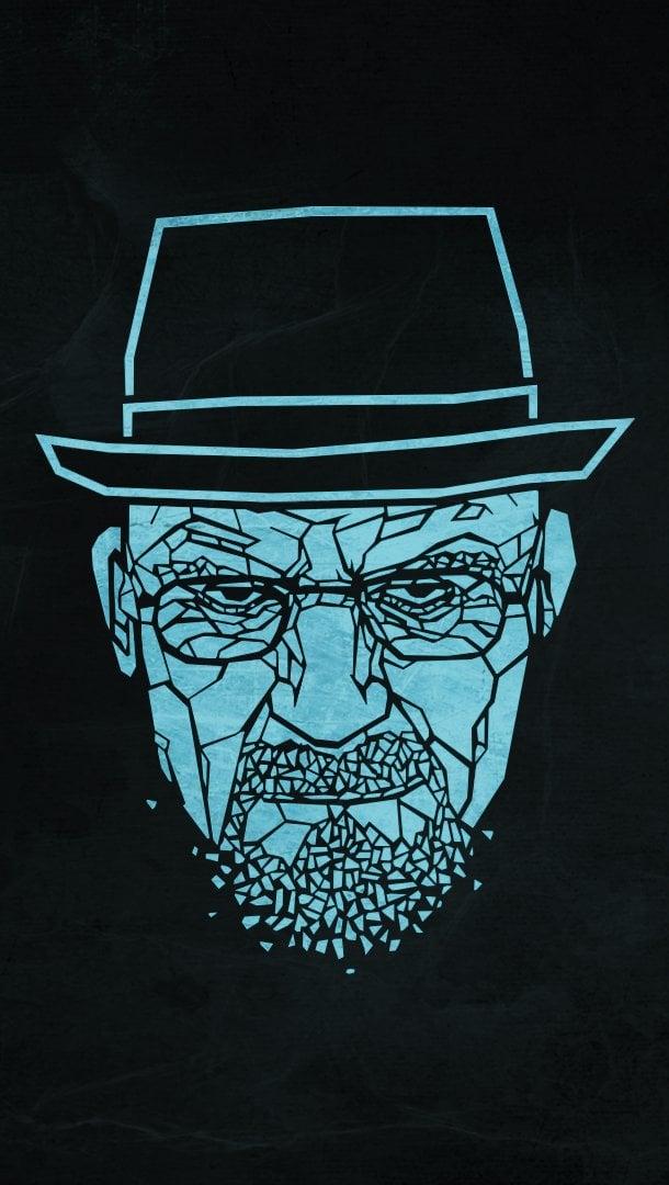 Wallpaper Heisenberg Breaking Bad Minimalist Vertical