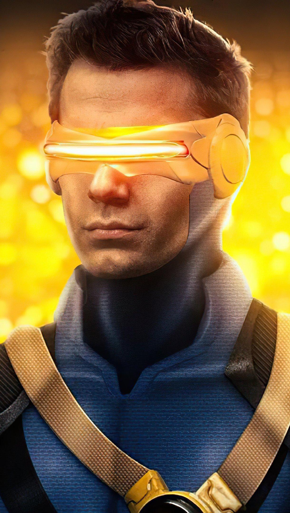 Wallpaper Henry Cavill como Cyclops Fan art Vertical