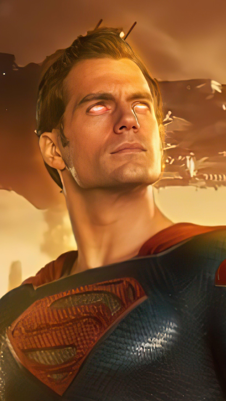 Wallpaper Henry Cavill as Superman Vertical