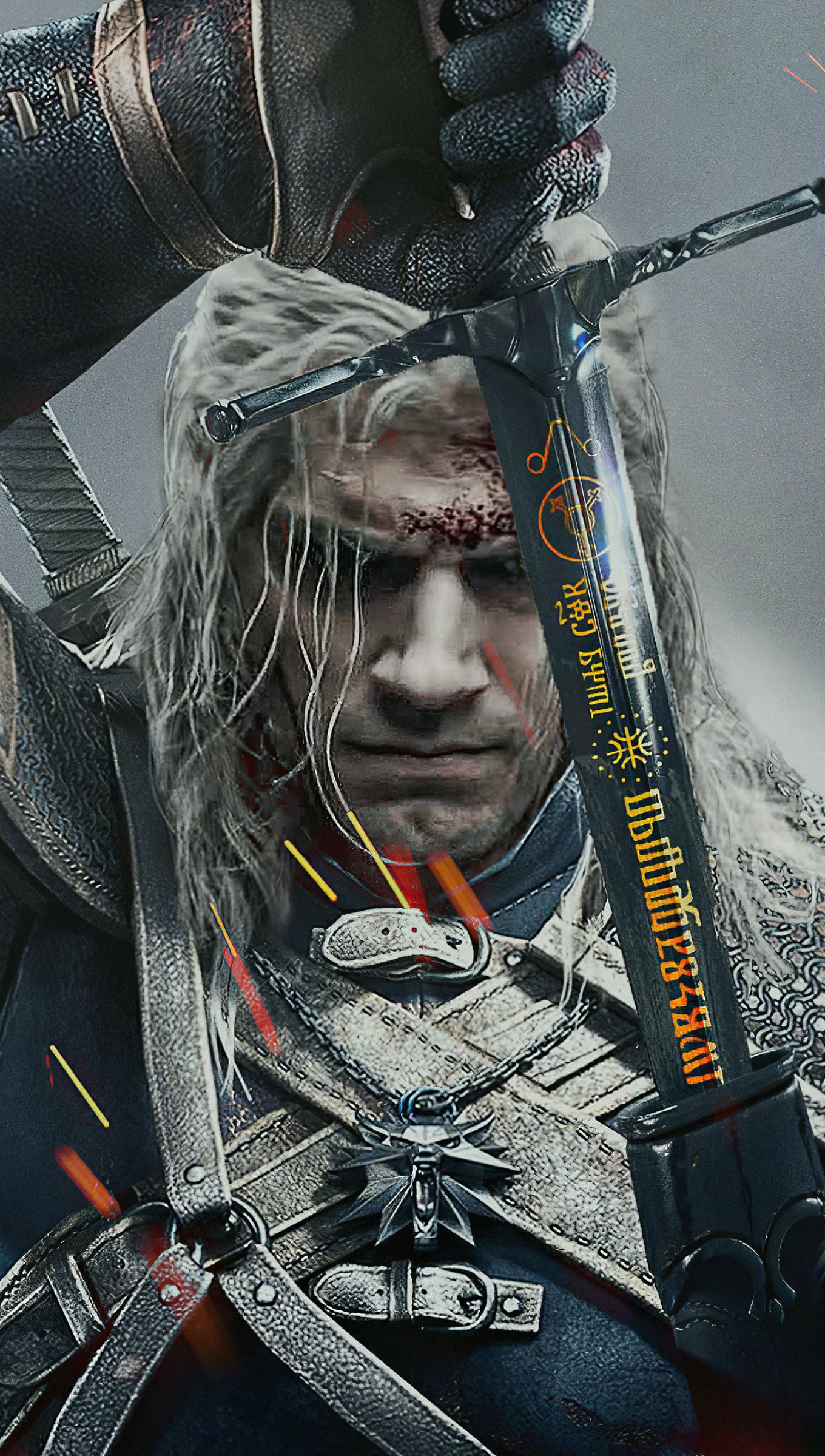 Wallpaper Henry Cavill in The Witcher Vertical
