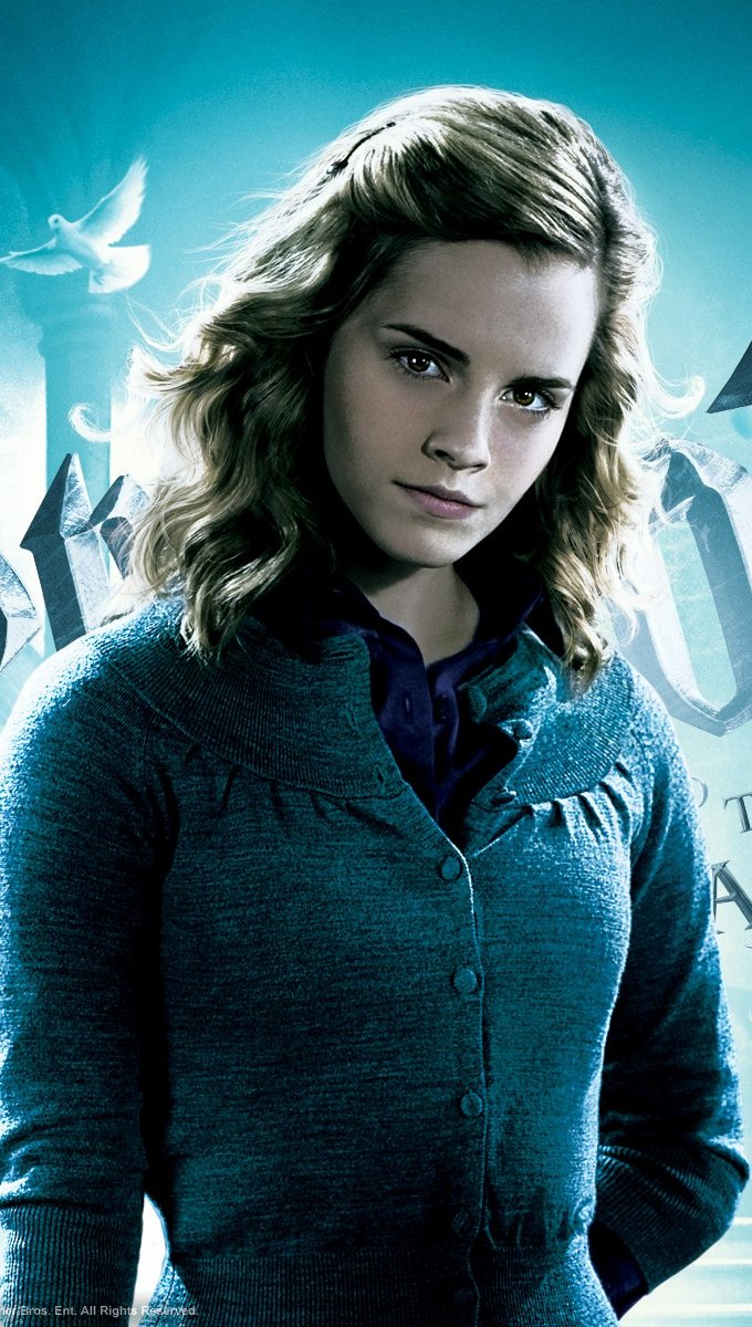 Wallpaper Hermione Granger in Harry Potter and the mystery of the prince Vertical