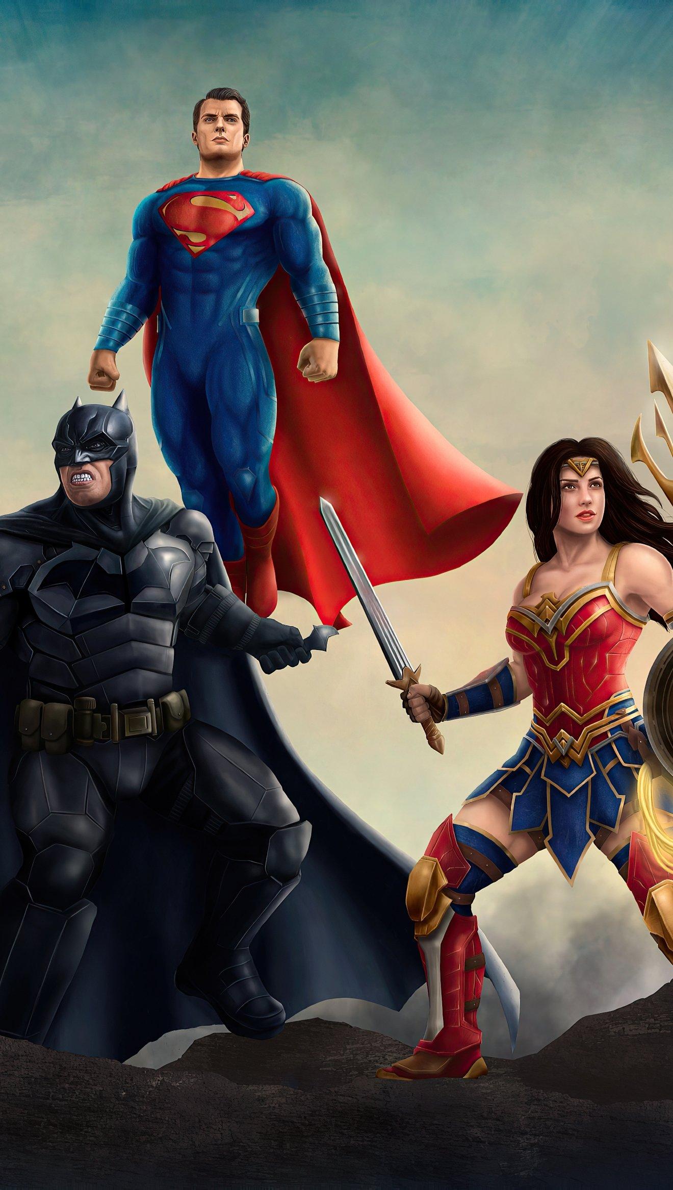 Fondos de pantalla Heroes de la Liga de la justicia 2020 Vertical